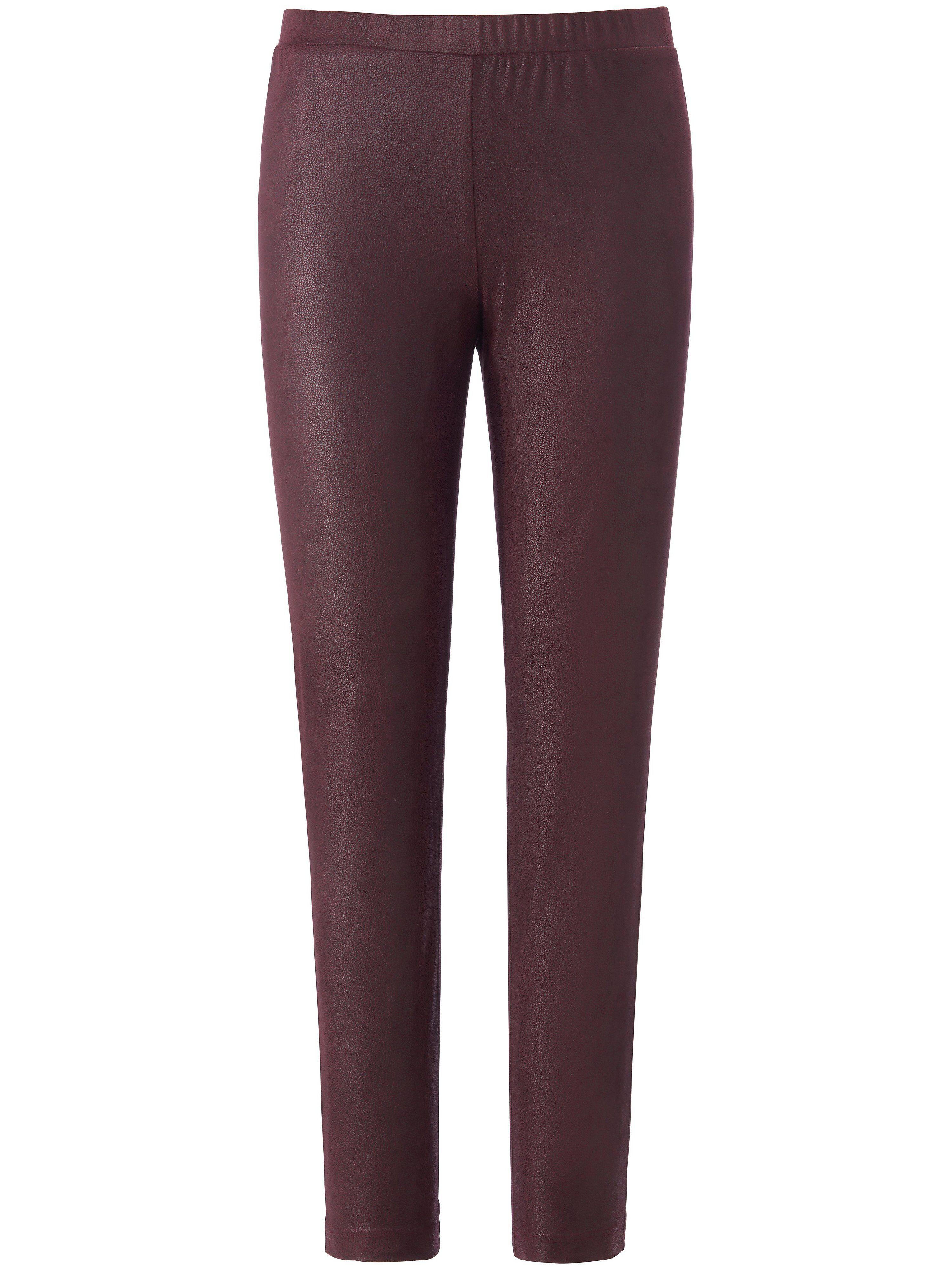Emilia Lay Le pantalon en synthétique ligne slim  Emilia Lay mauve  - Femme - 48