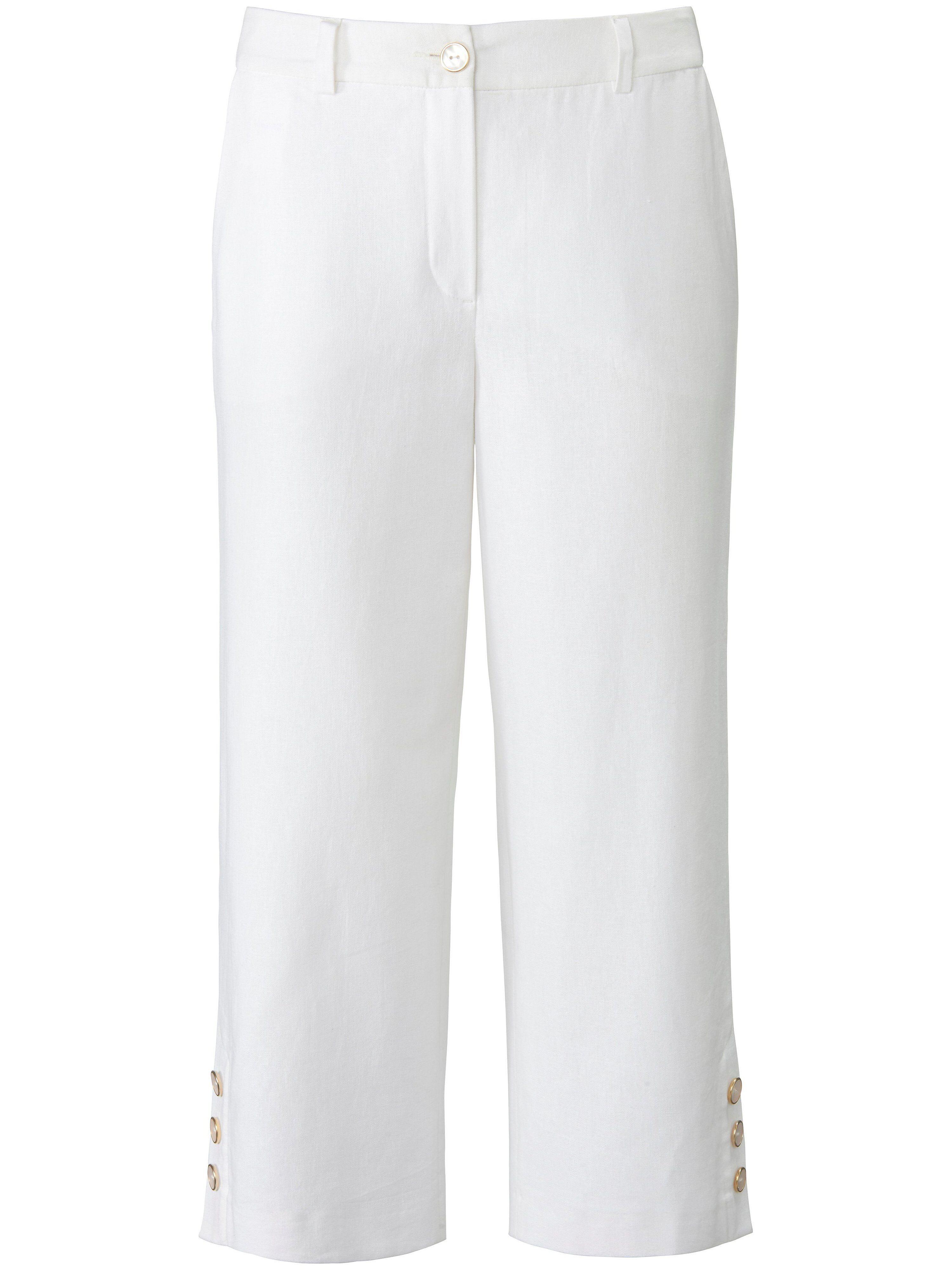 Uta Raasch La jupe-culotte avec ceinture à passants et bouton  Uta Raasch blanc  - Femme - 38