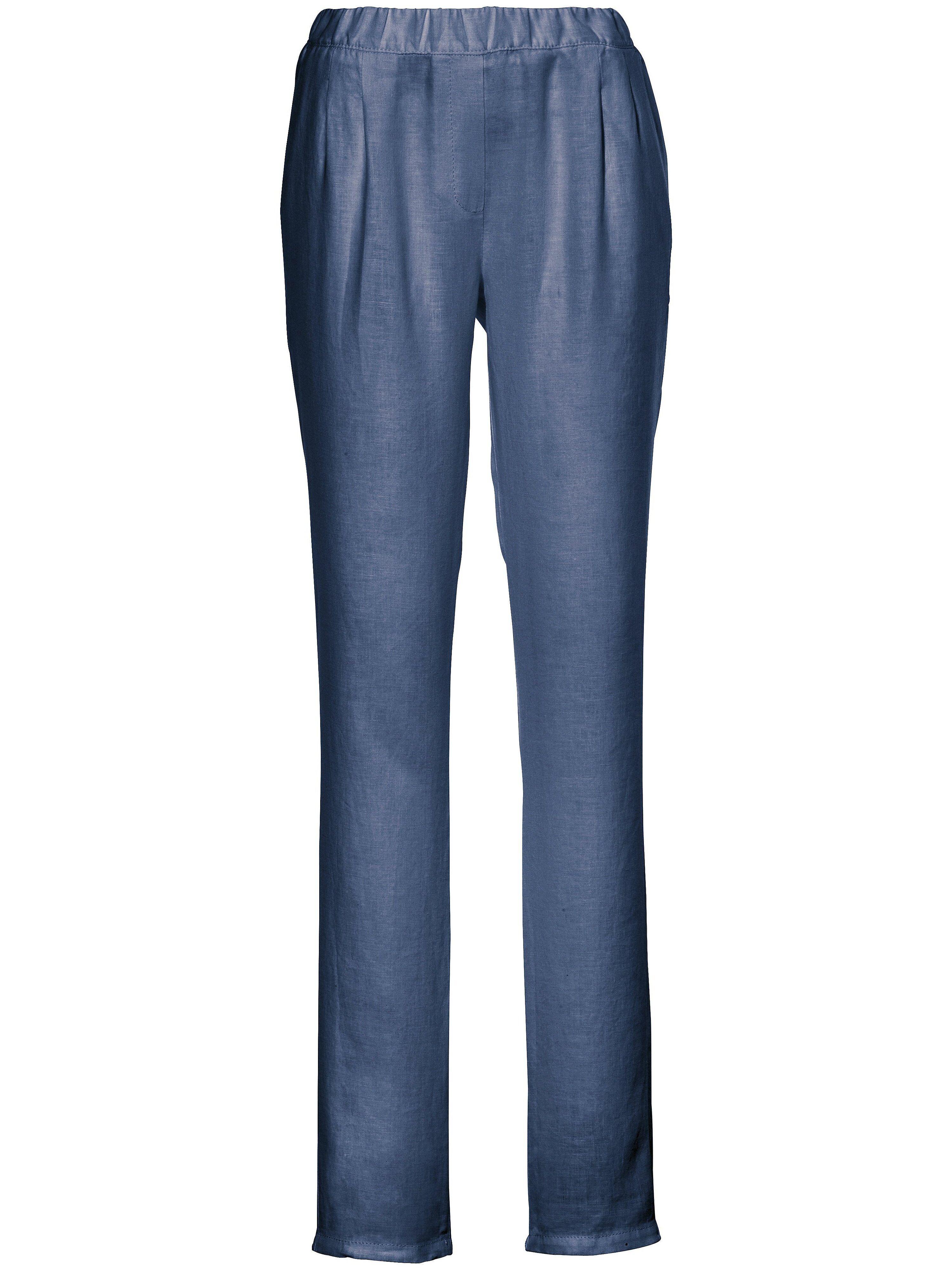 Peter Hahn Le pantalon à pinces  Peter Hahn bleu  - Femme - 22