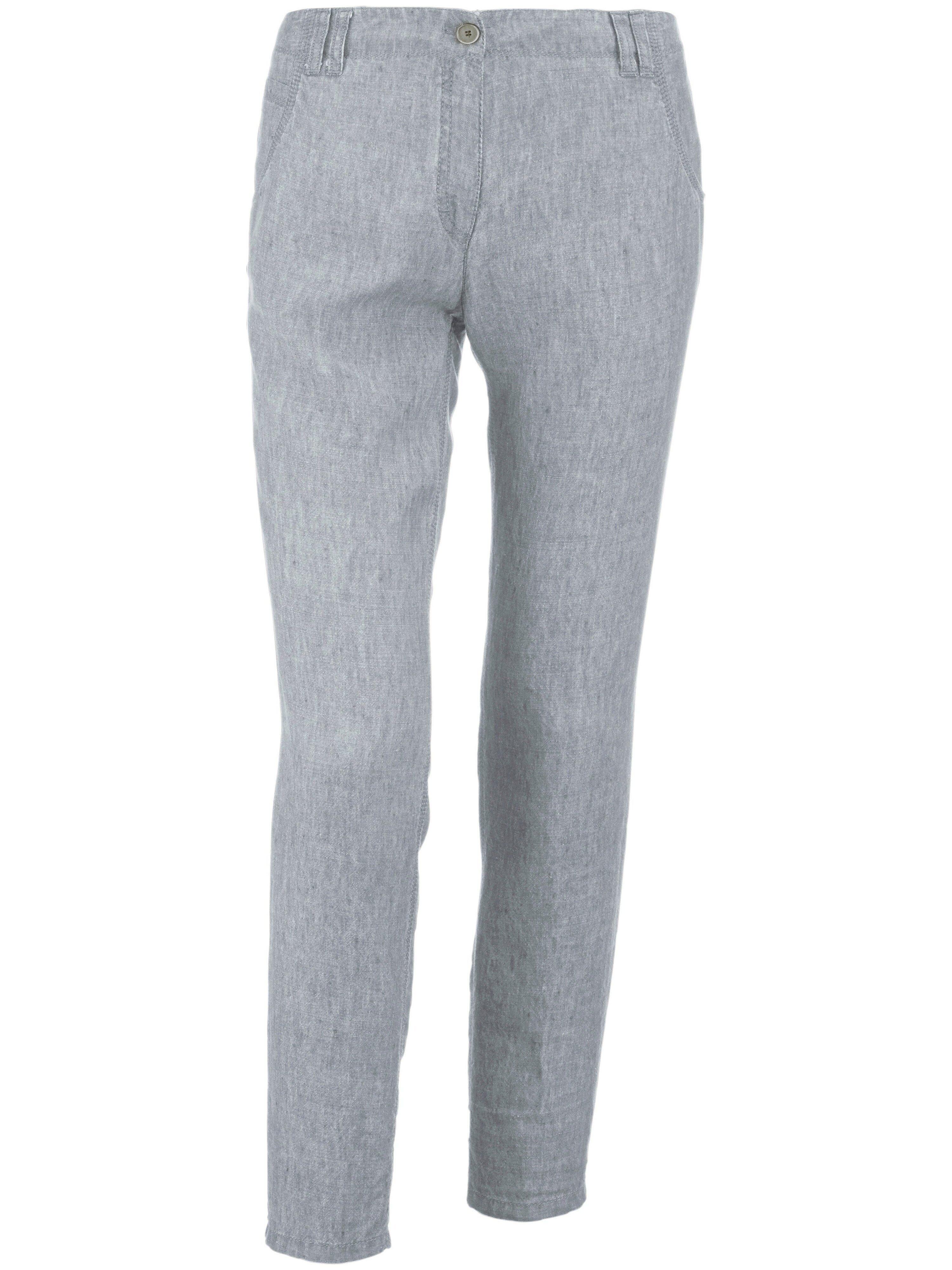 Brax Le pantalon 100% lin modèle Melo  Brax Feel Good gris  - Femme - 38