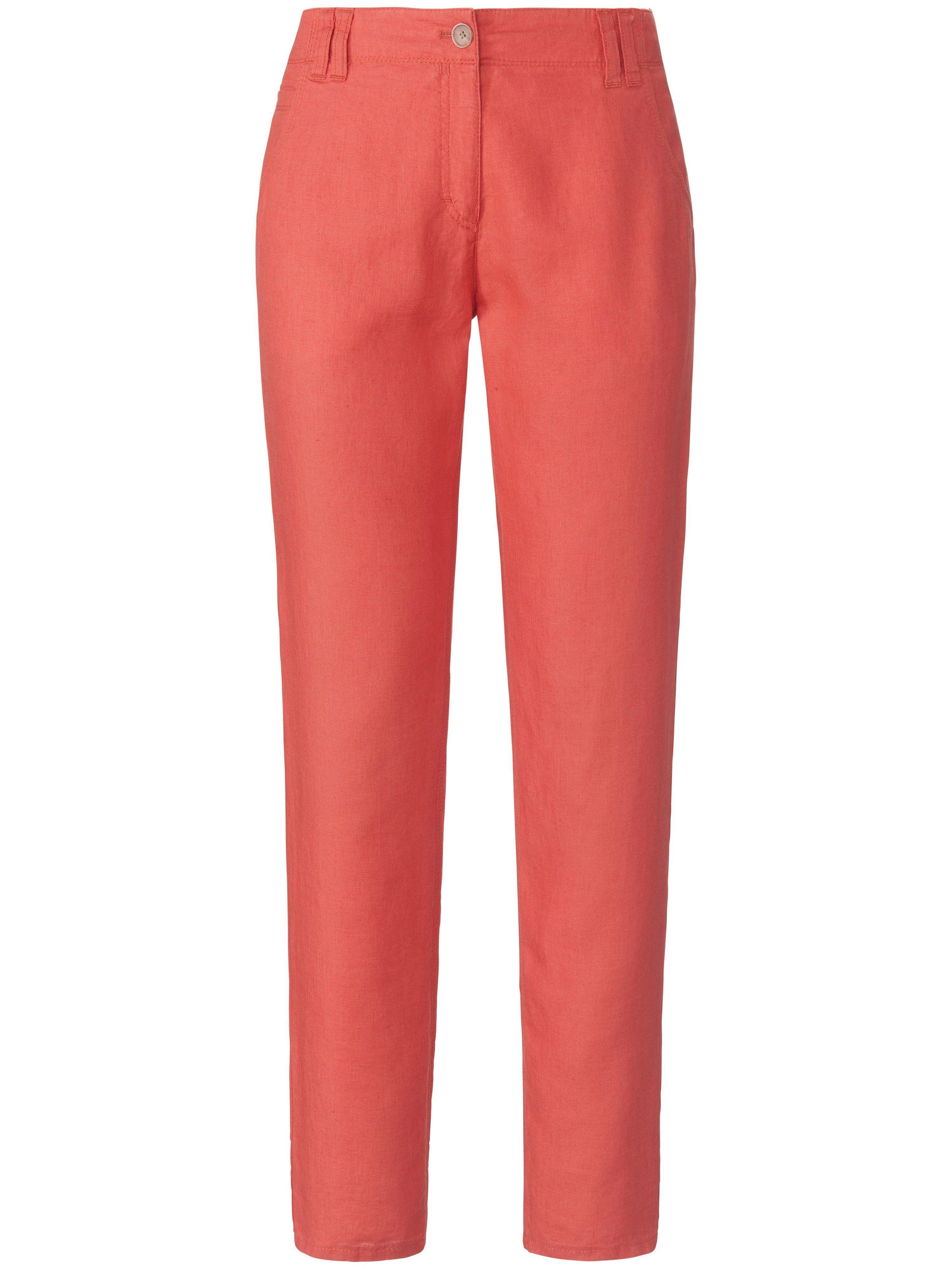 Brax Le pantalon 100% lin modèle Melo  Brax Feel Good rouge  - Femme - 40