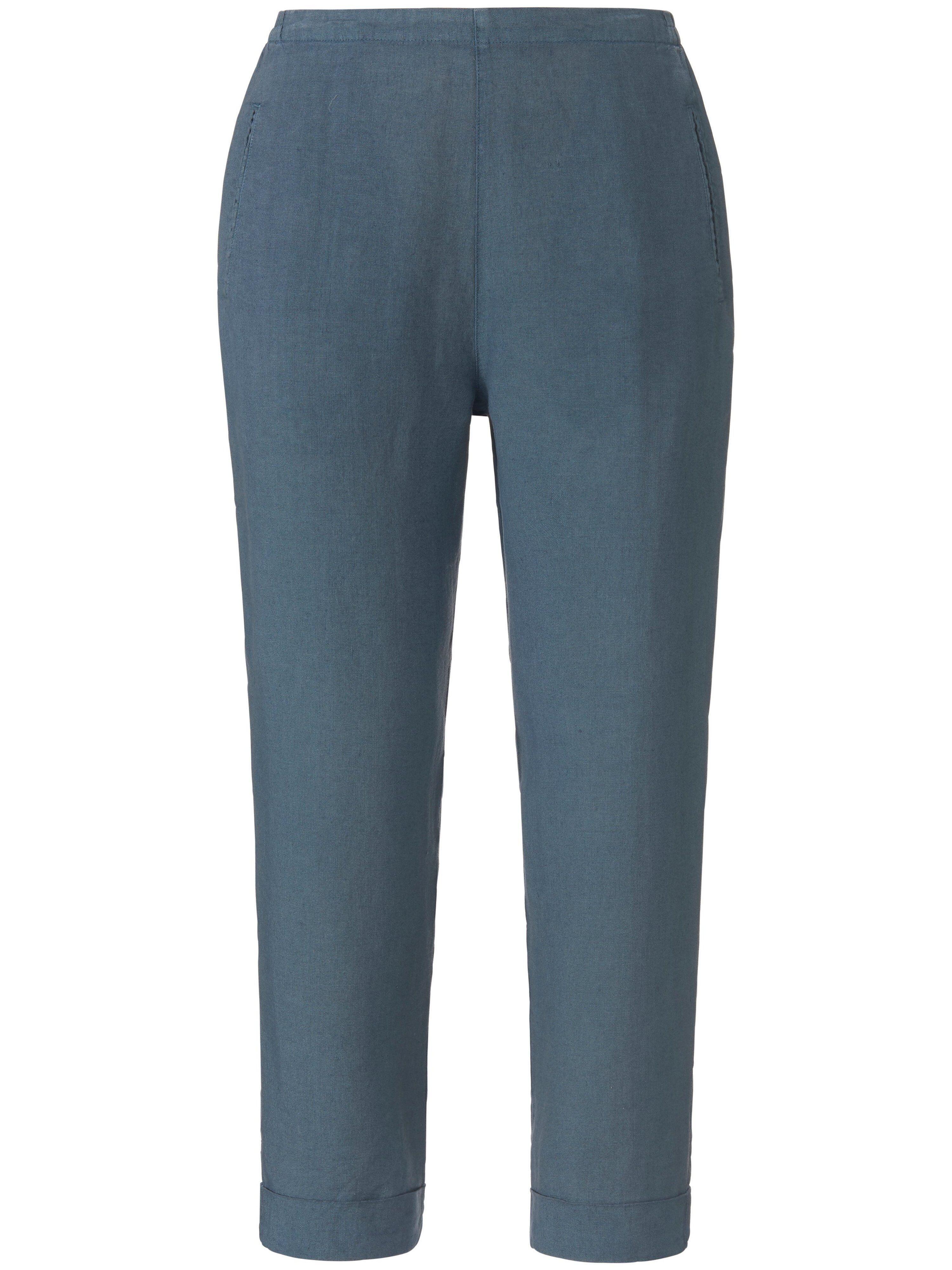elemente clemente Le pantalon 7/8 en 100% lin  elemente clemente gris  - Femme - 38
