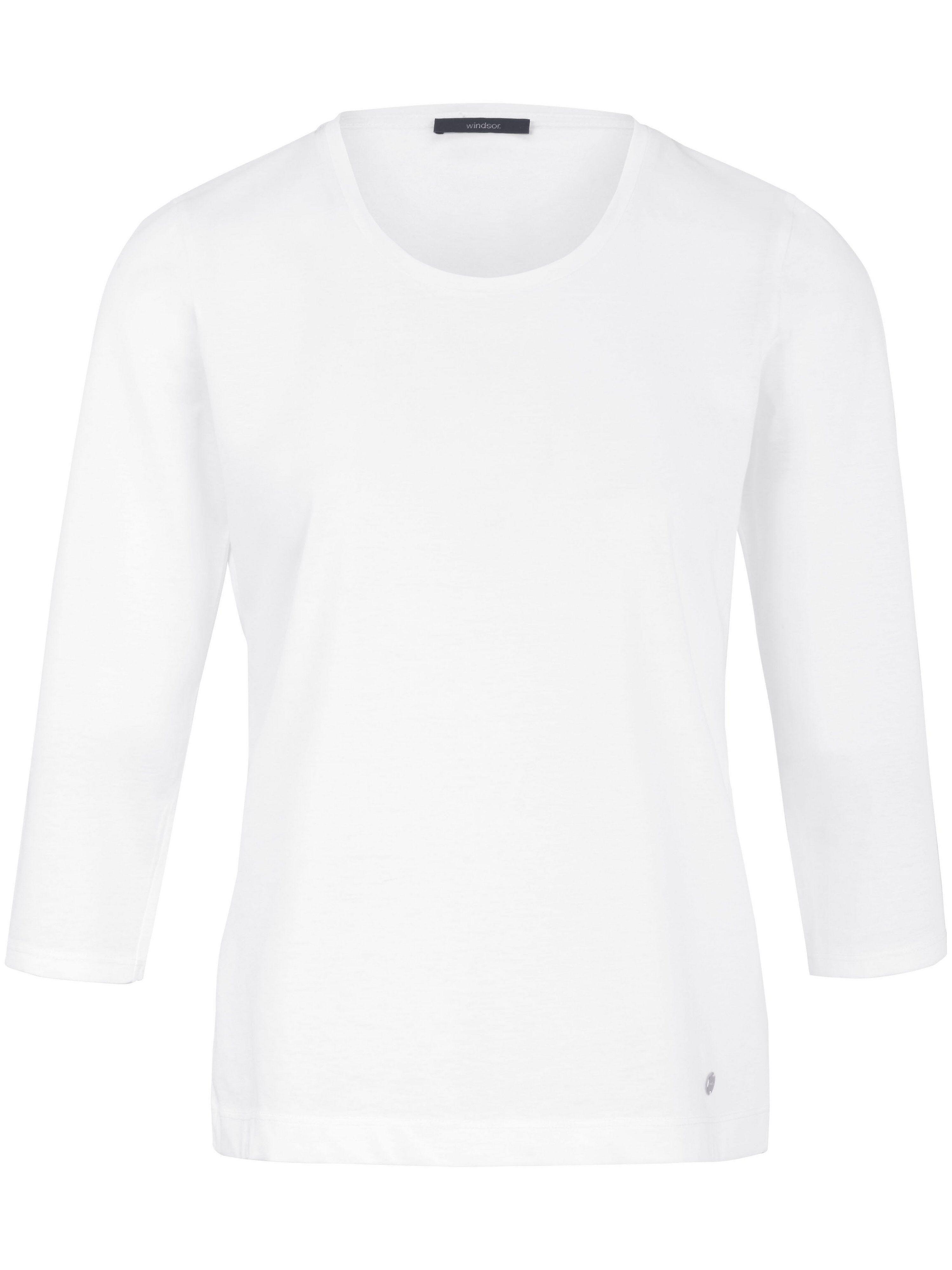 Windsor Le T-shirt manches 3/4 en pur coton  Windsor blanc  - Femme - 36