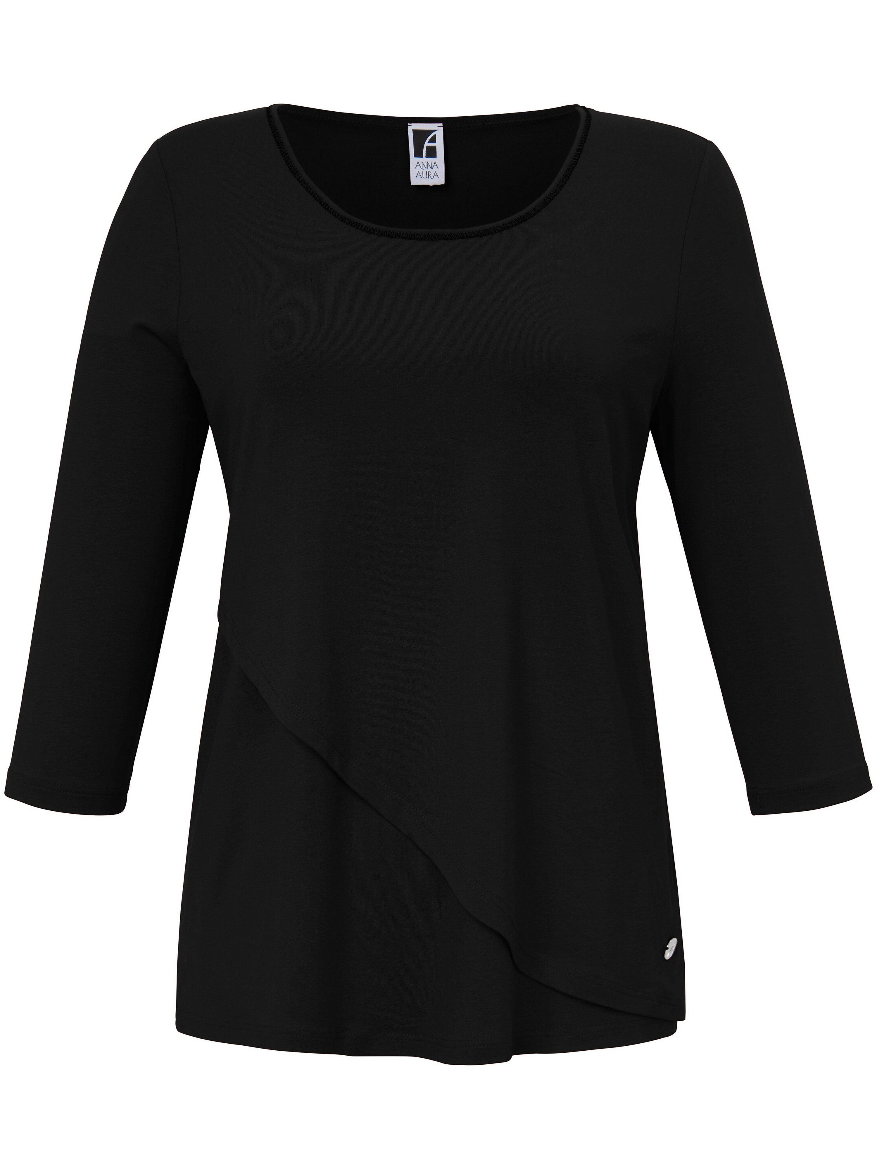 Anna Aura Le T-shirt manches 3/4  Anna Aura noir  - Femme - 44