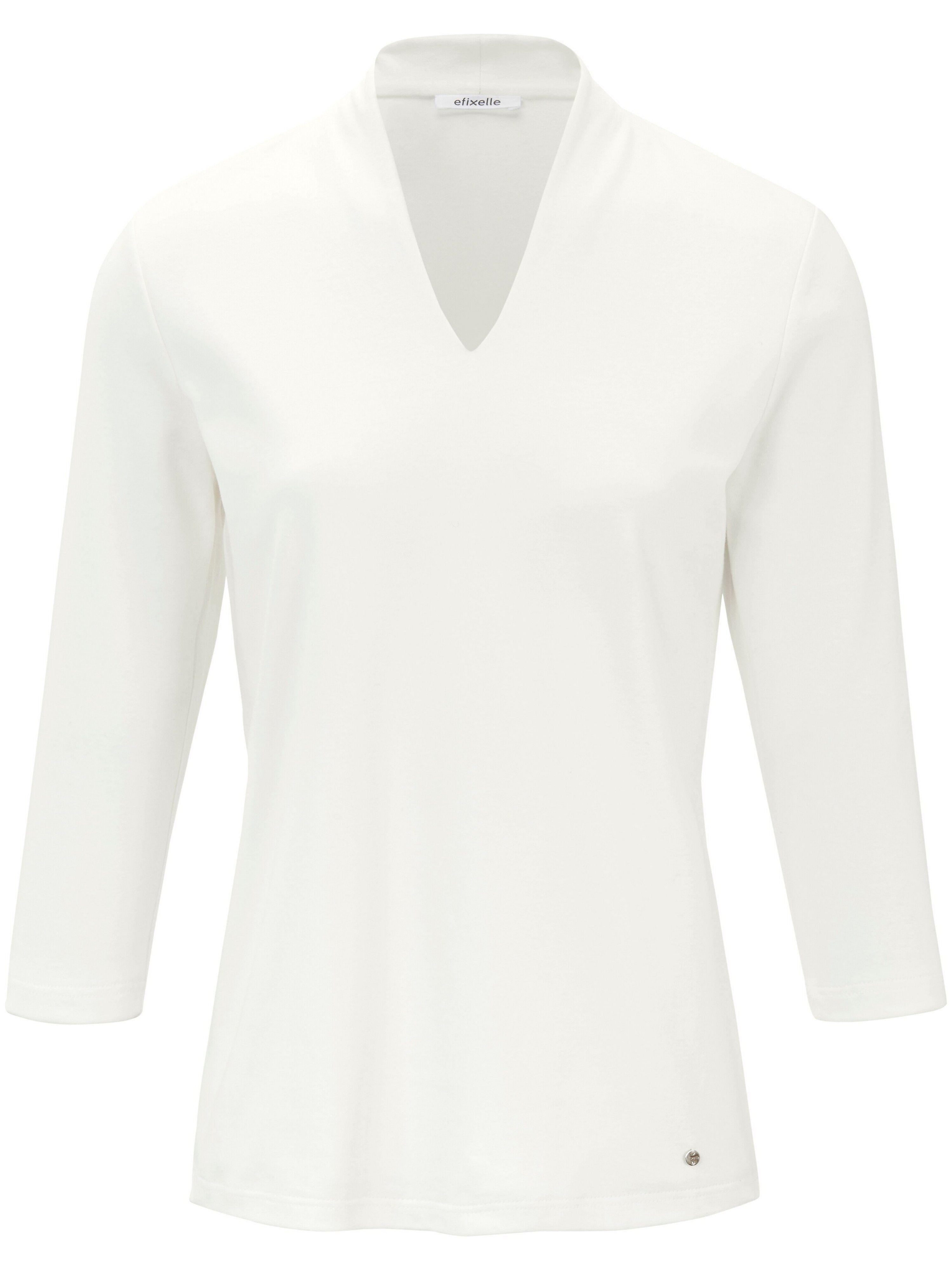 Efixelle Le T-shirt manches 3/4 100% coton  Efixelle beige  - Femme - 38