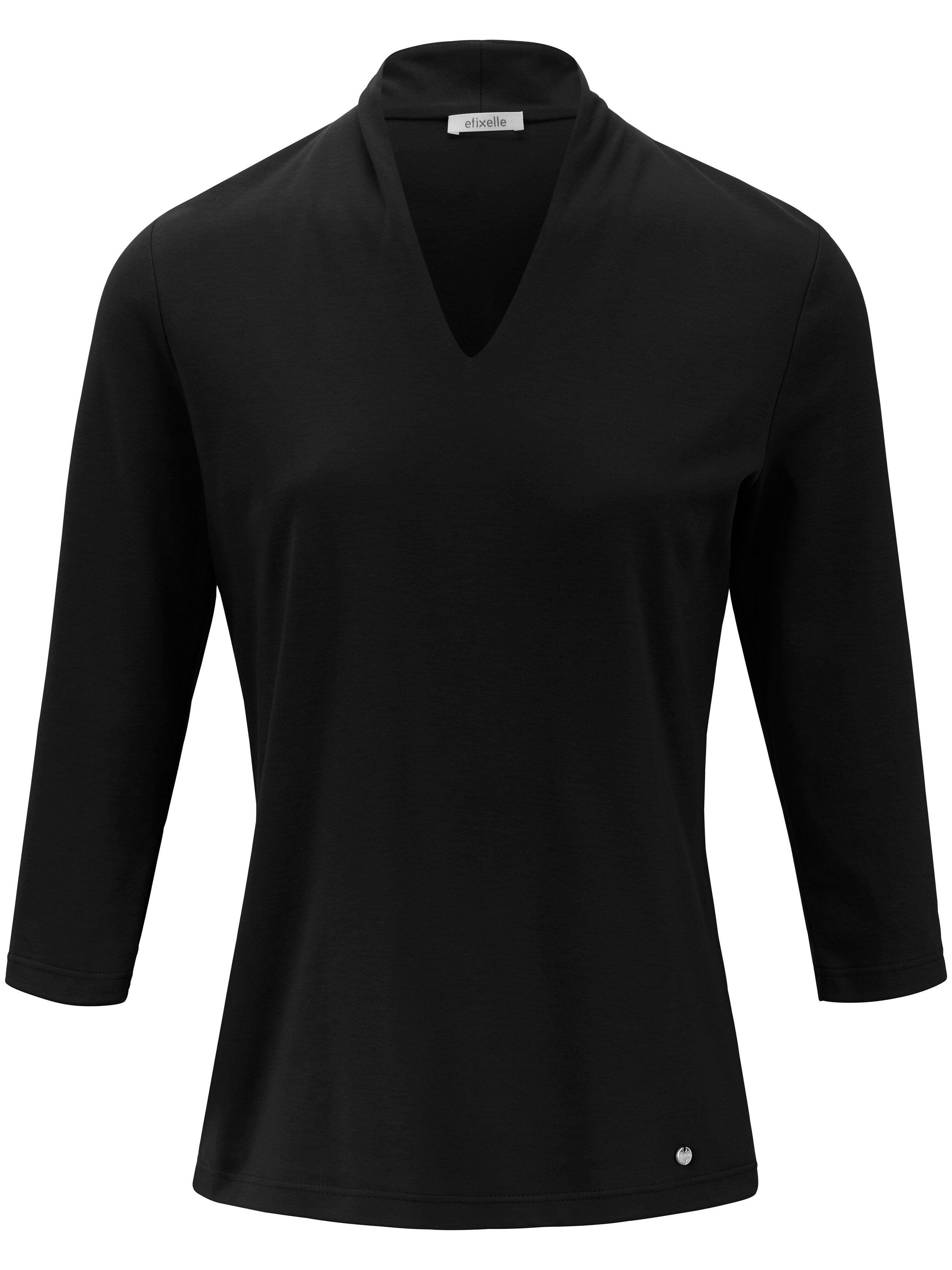 Efixelle Le T-shirt manches 3/4 100% coton  Efixelle noir  - Femme - 38