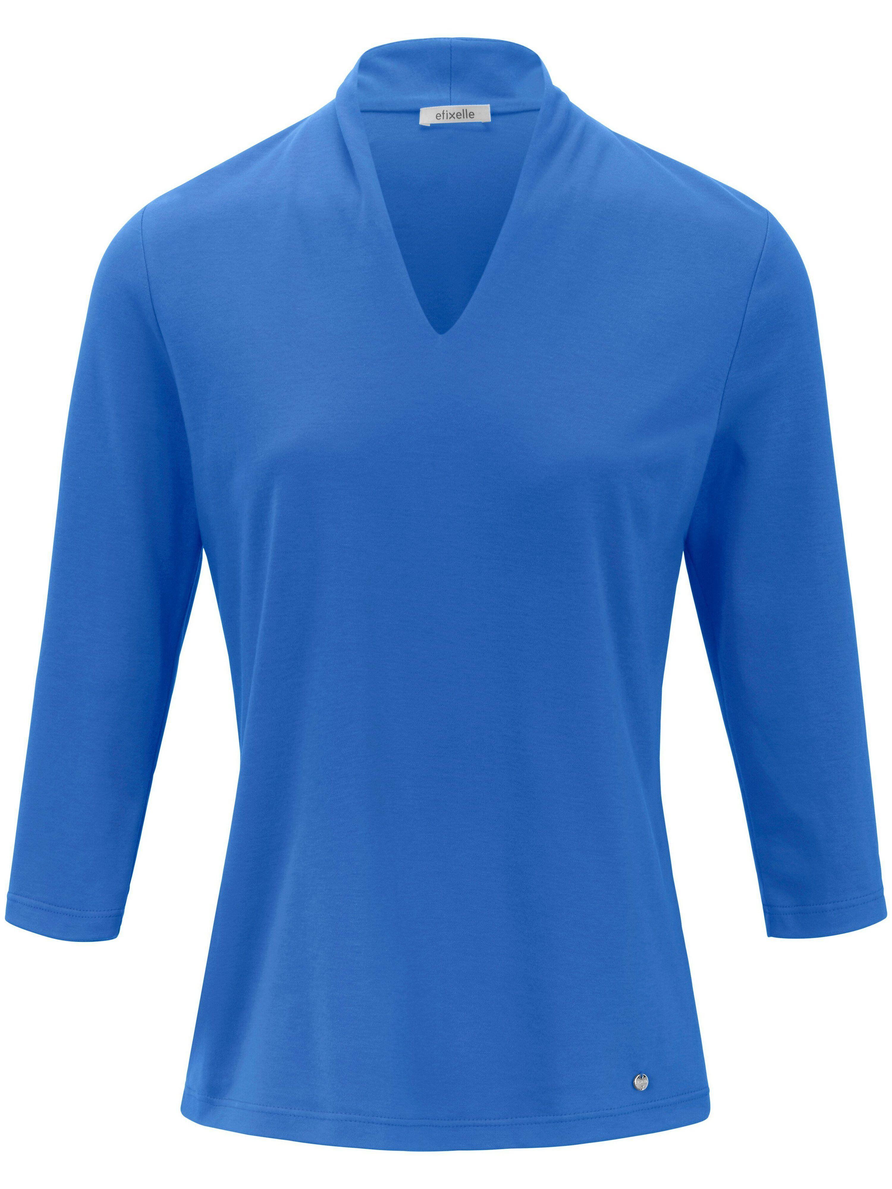 Efixelle Le T-shirt manches 3/4 100% coton  Efixelle bleu  - Femme - 38