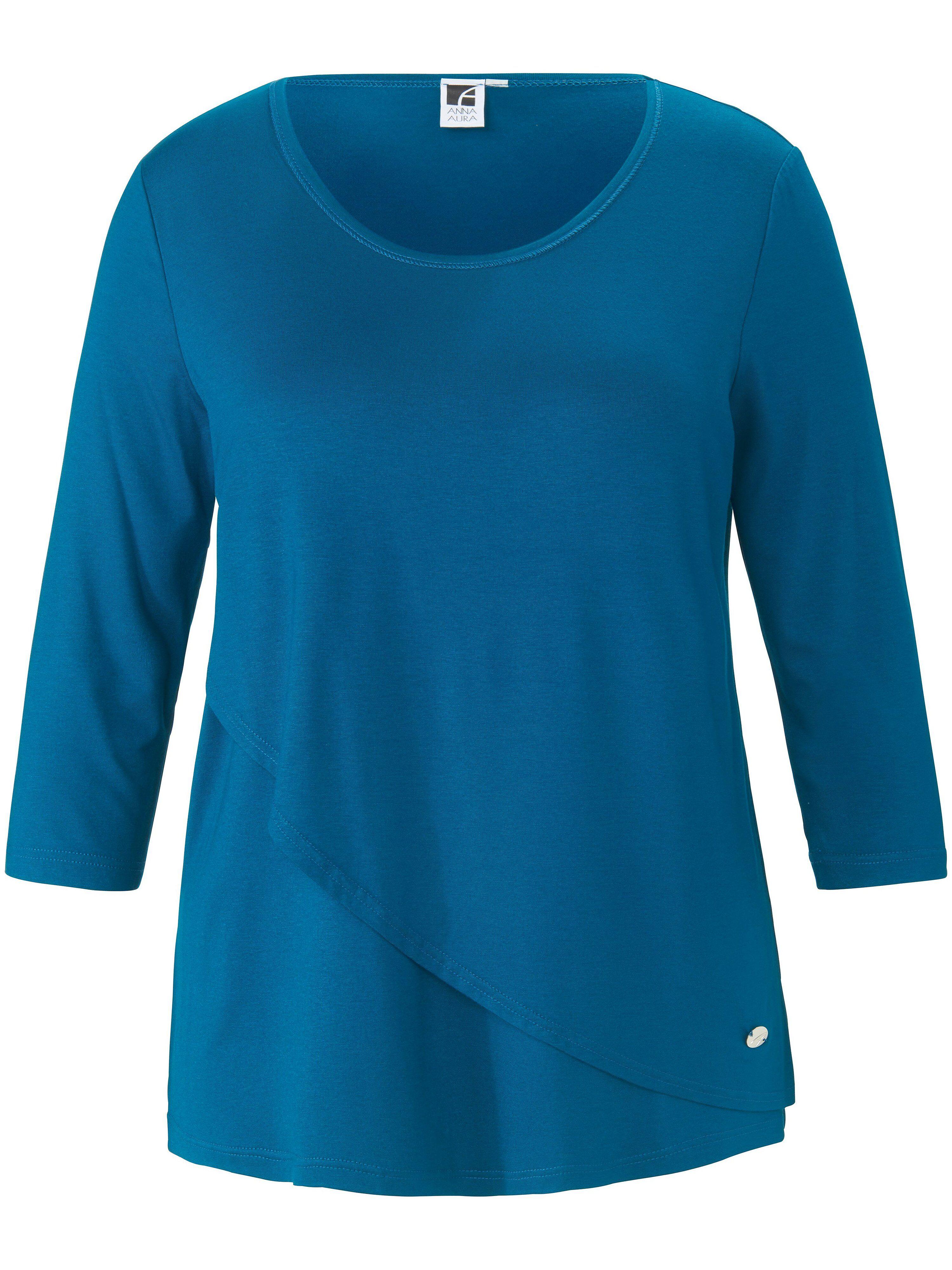 Anna Aura Le T-shirt manches 3/4  Anna Aura turquoise  - Femme - 42