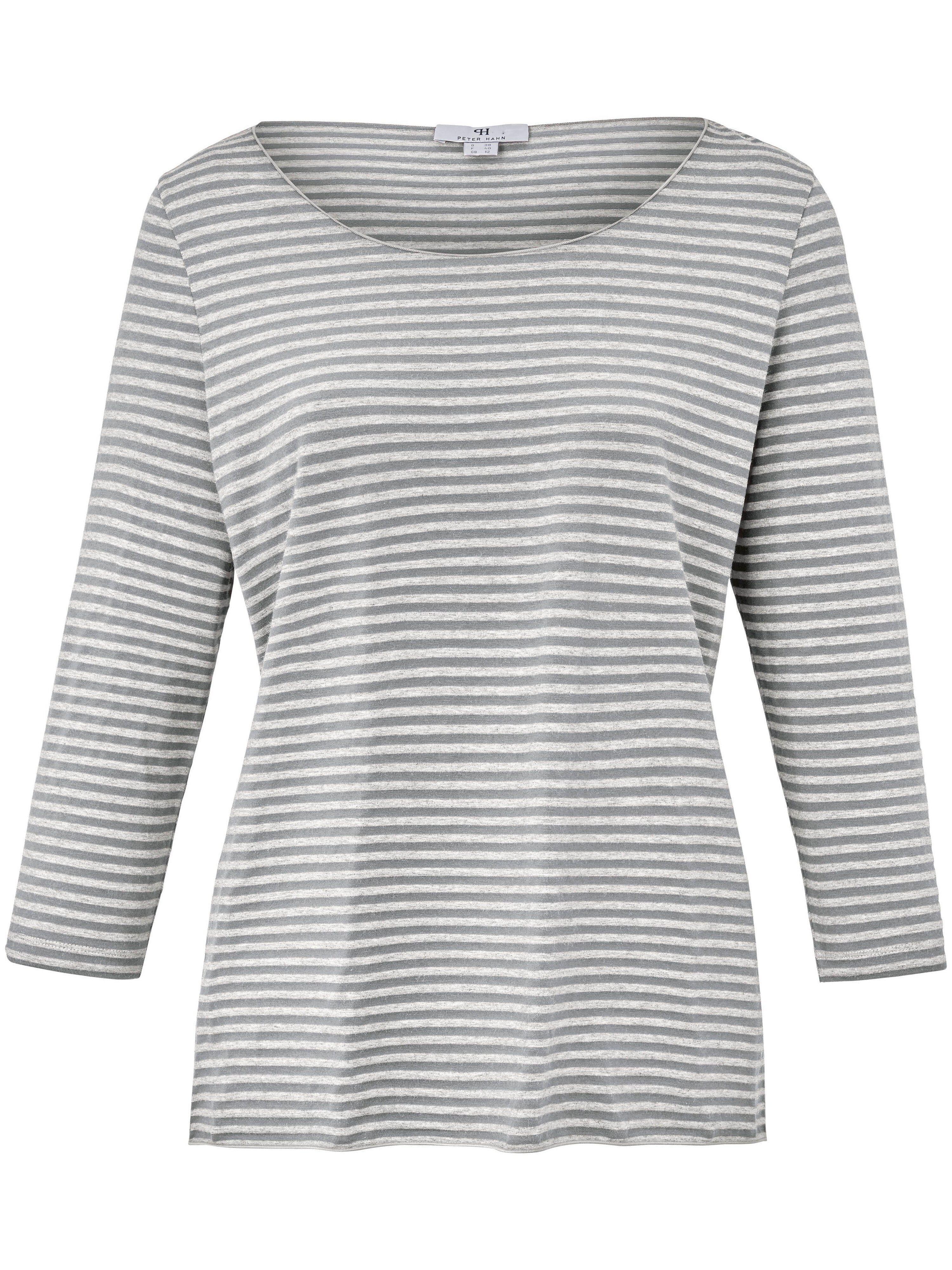 Peter Hahn Le T-shirt finement rayé, manches 3/4  Peter Hahn gris  - Femme - 38