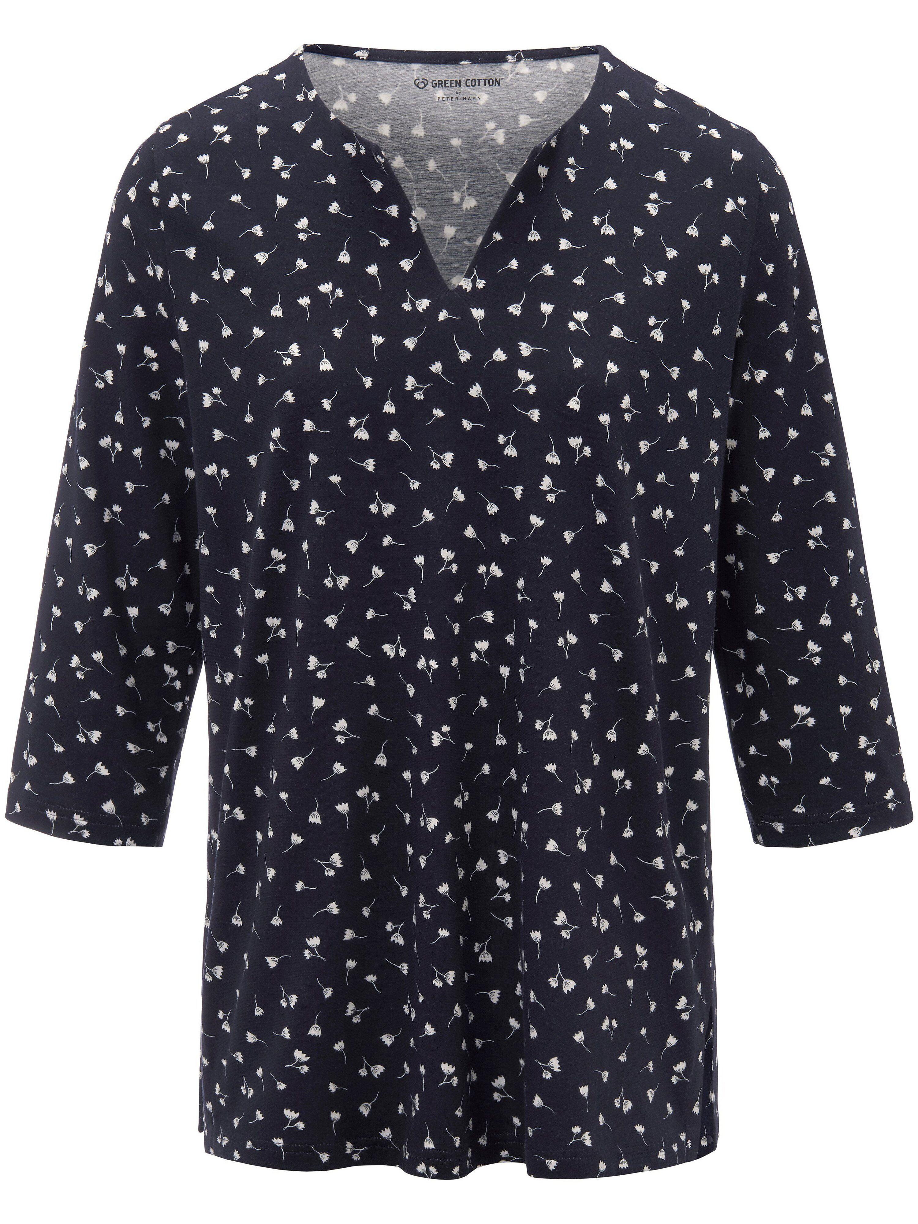Green Cotton Le T-shirt 100% coton manches 3/4  Green Cotton bleu  - Femme - 54