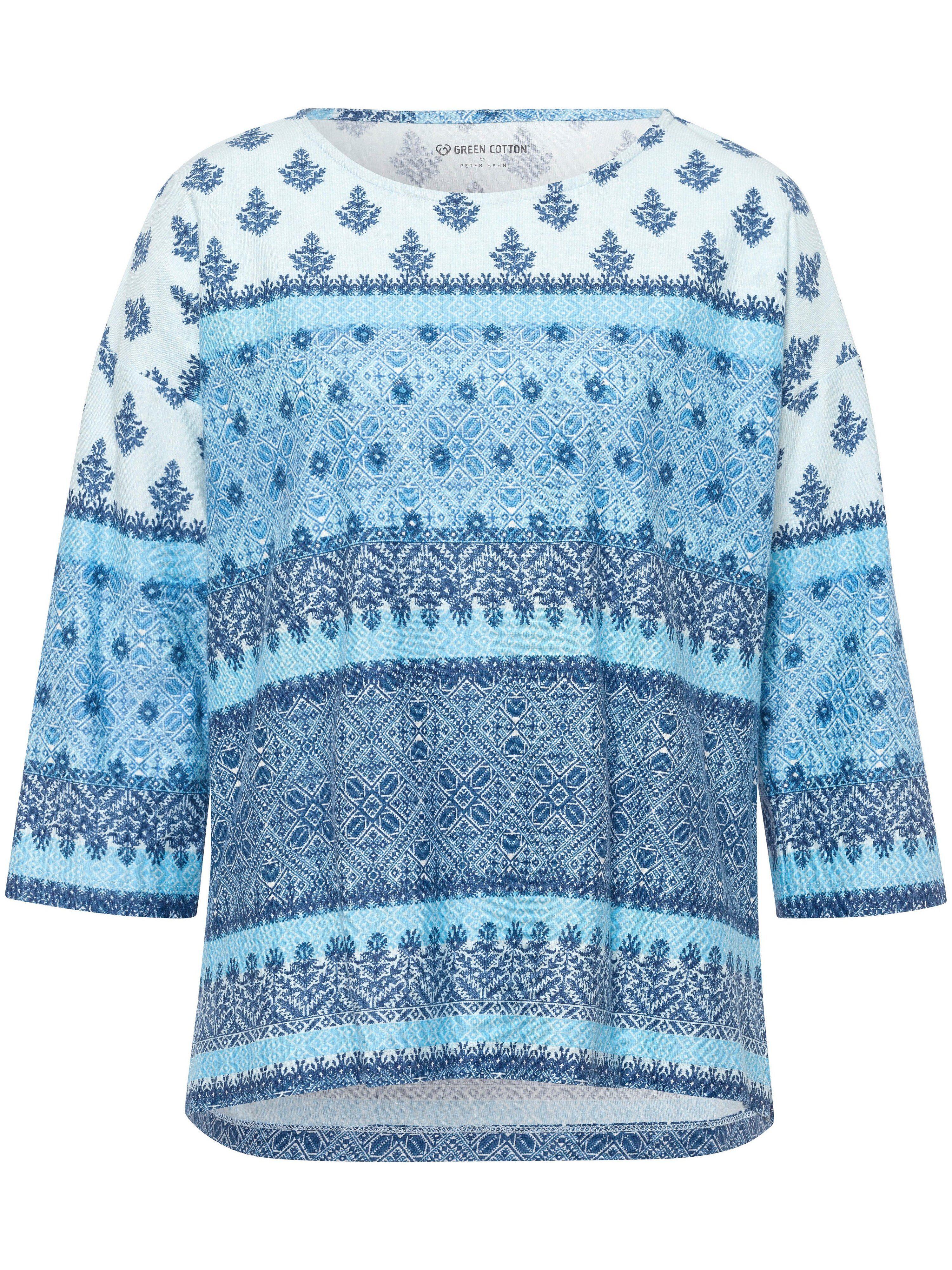 Green Cotton Le T-shirt 100% coton manches 3/4  Green Cotton bleu  - Femme - 50