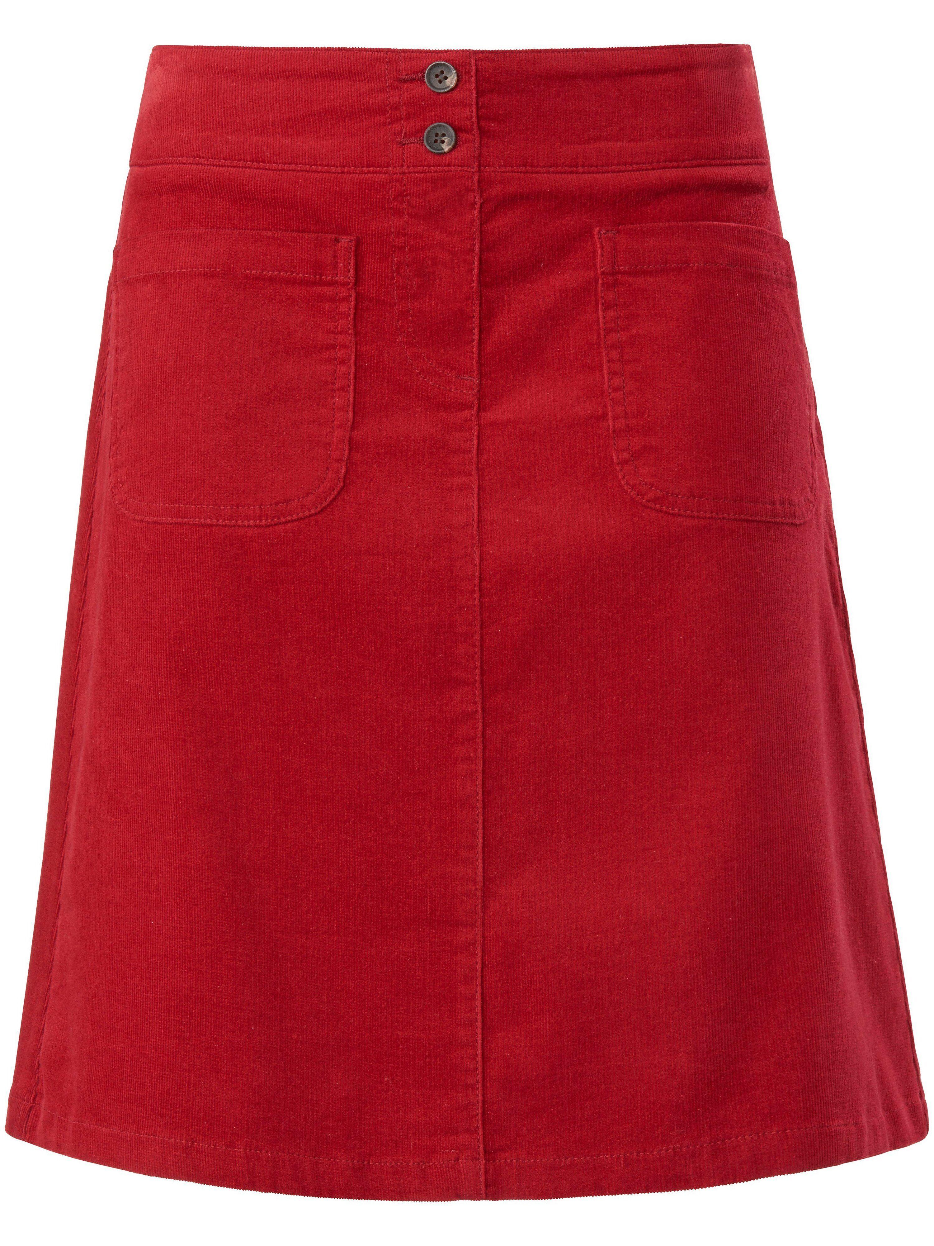 MYBC La jupe en velours milleraies, ligne en A  MYBC rouge  - Femme - 38
