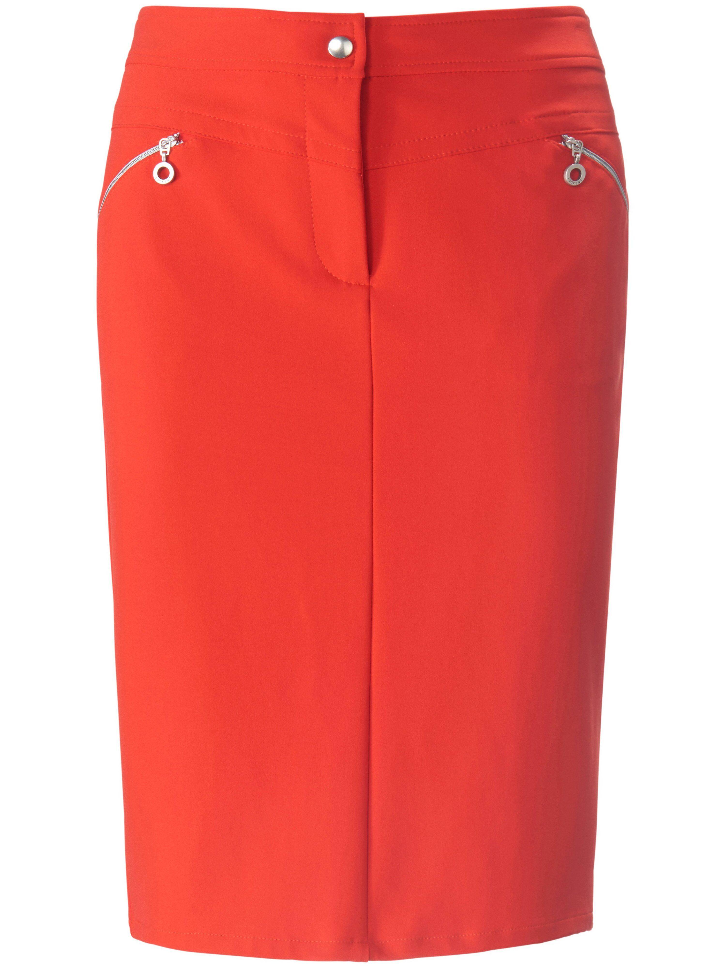 Looxent La jupe ligne droite  Looxent rouge  - Femme - 38