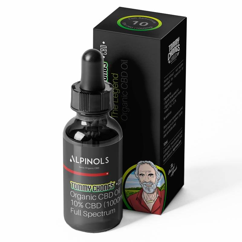 Huile CBD 10% spectre complet - Tommy Chong x Alpinols