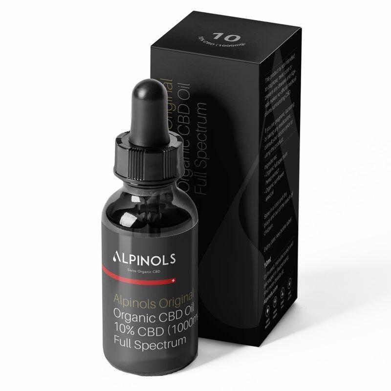 Huile CBD 10% spectre complet - Alpinols