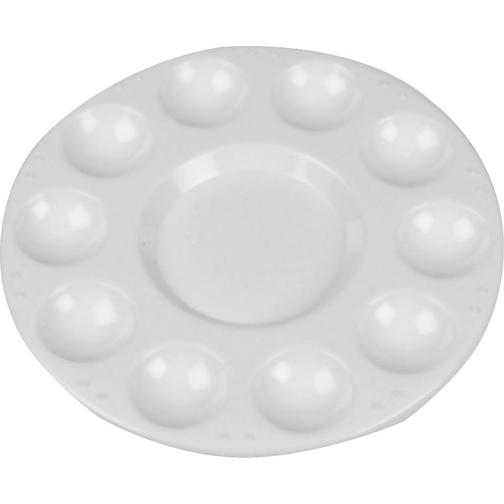 Creativ Company Palette, d: 17 cm, blanc, 10 pièce/ 1 Pq.