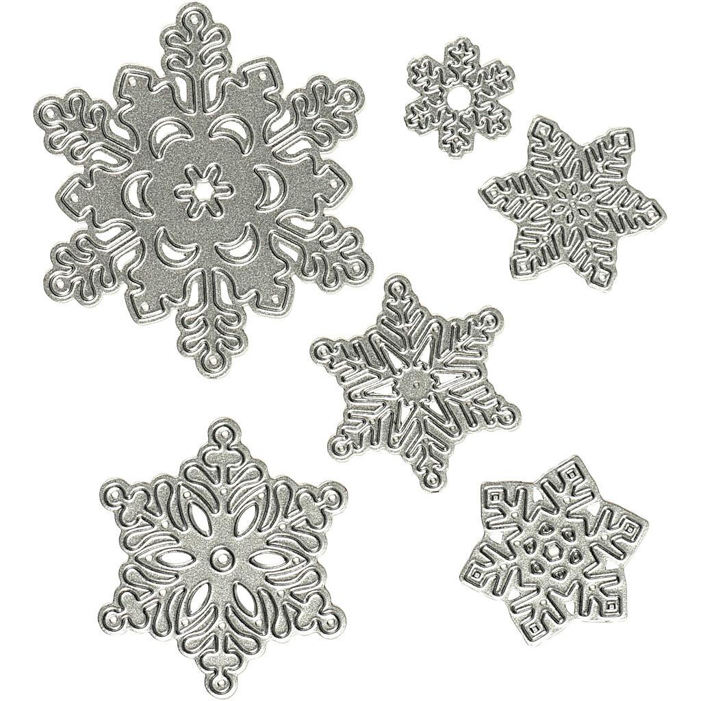 Creativ Company Gabarit de coupe, flocon de neige, d: 2-6 cm, 1 pièce