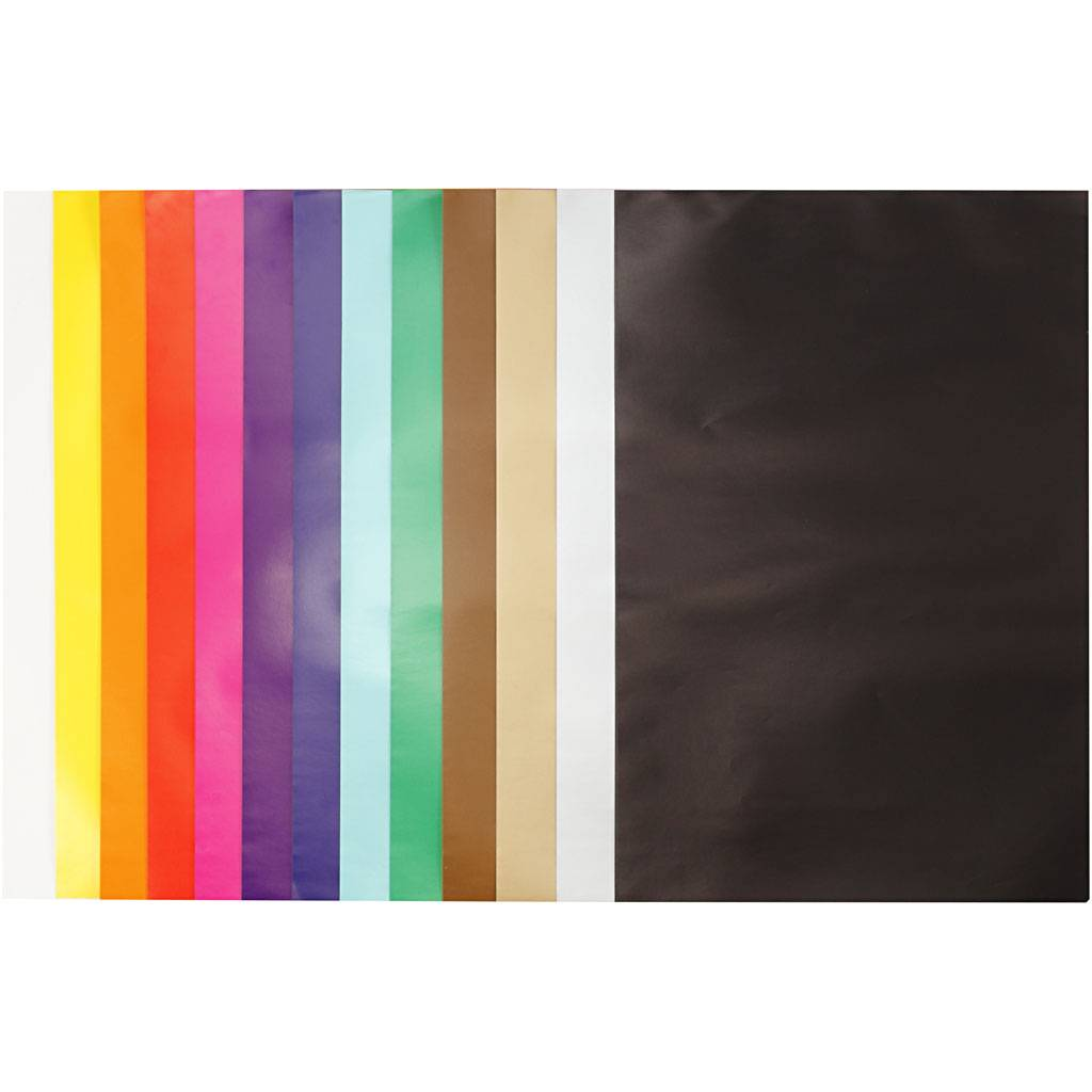 Creativ Company Papier glacé, 24x32 cm, 80 gr, couleurs assorties, 50 flles/ 1 Pq.