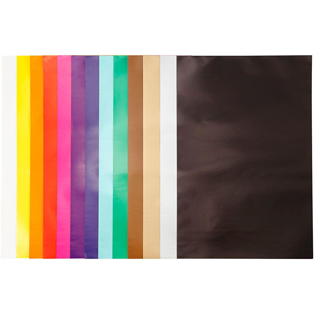 Creativ Company Papier glacé, 32x48 cm, 80 gr, couleurs assorties, 100 flles/ 1 Pq.