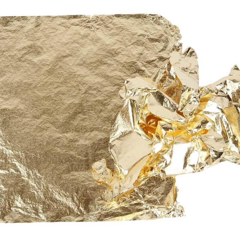 Creativ Company Imitation feuille métal, 16x16 cm, or, 25 flles/ 1 Pq., 0,625 m2