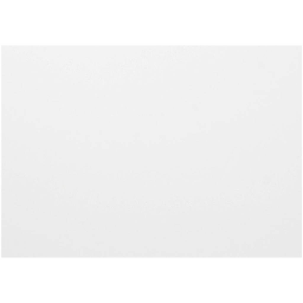 Creativ Company Carton pliable, 72x100 cm, ép. 0,6 mm, 400 gr, blanc, 50 flles/ 1 Pq.