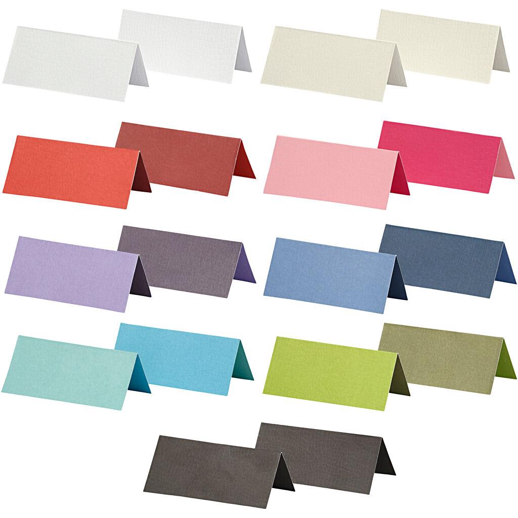 HappyMoments Marque-place, dim. 9x4 cm, Le contenu peut varier , 250 gr, couleurs assorties, 30 Pq./ 1 Pq.