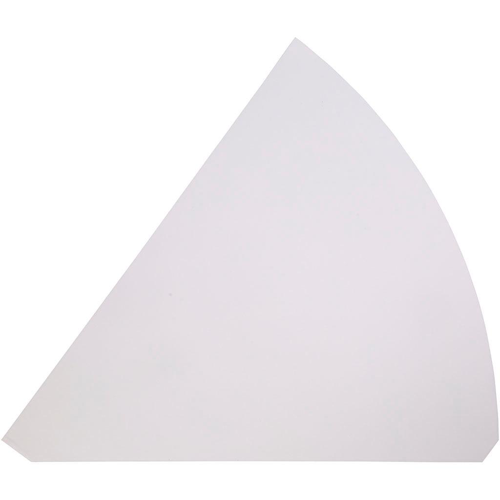 Creativ Company Cônes, H: 68 cm, d: 20 cm, blanc, 5 pièce/ 1 Pq.