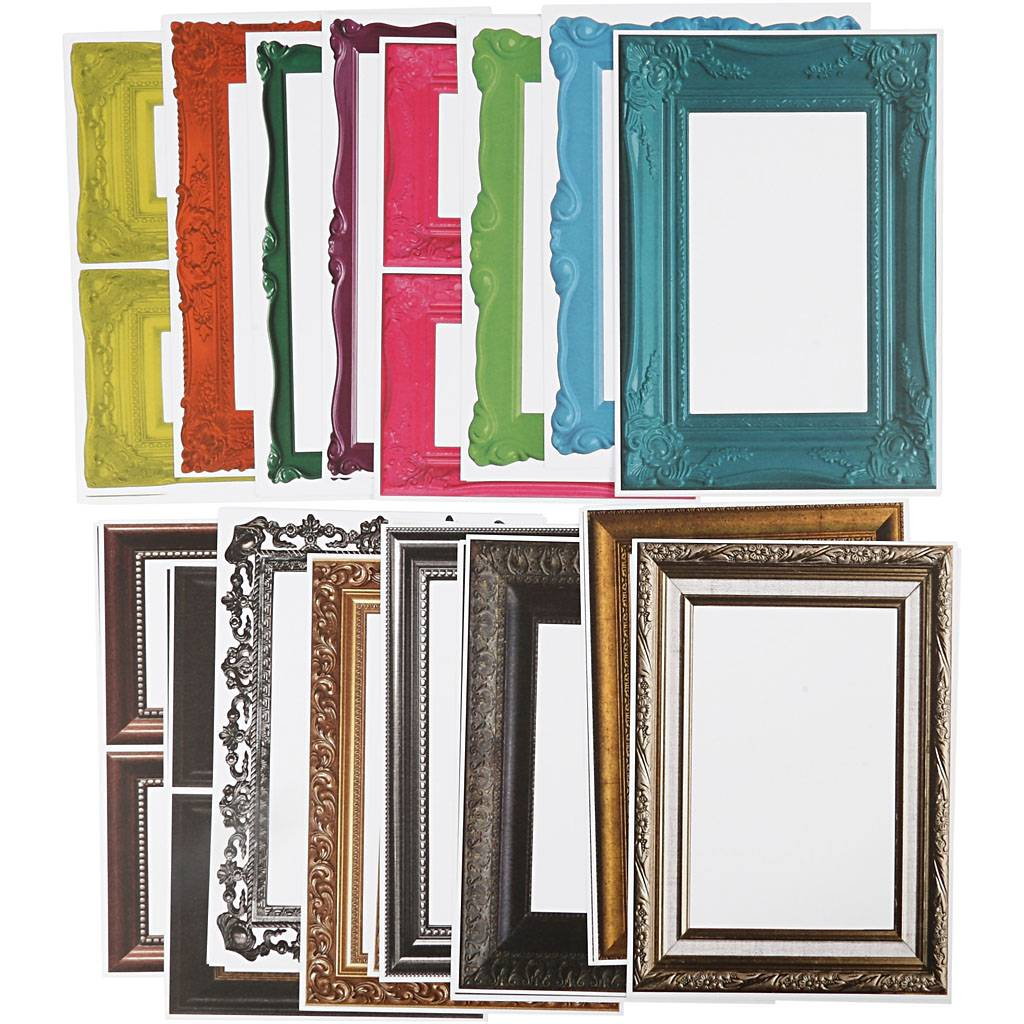 Creativ Company Cadres, dim. 26,2x18,5 cm, couleurs assorties, 64 flles ass./ 1 Pq.