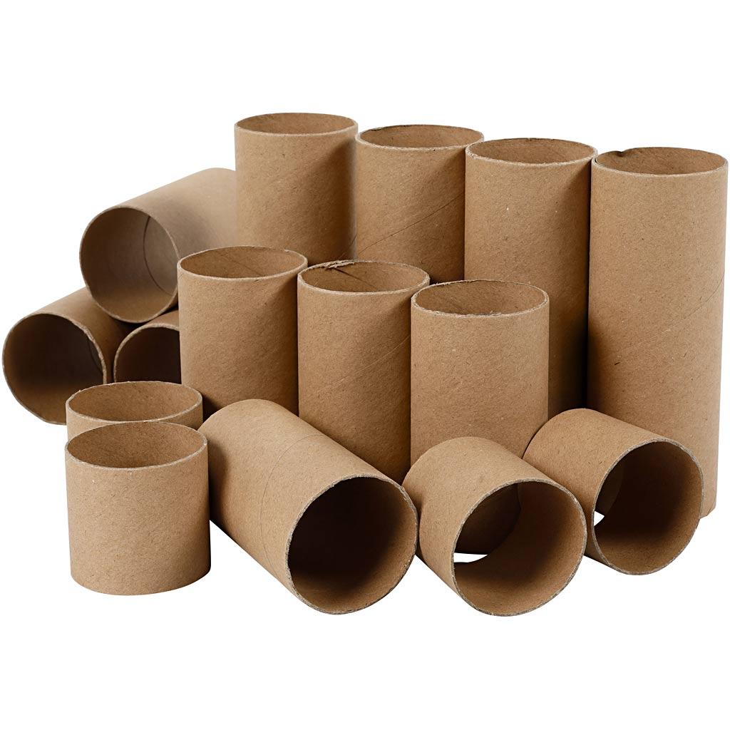 Creativ Company Rouleaux de papier toilette, L: 4,7+9,3+14 cm, 60 pièce/ 1 Pq.