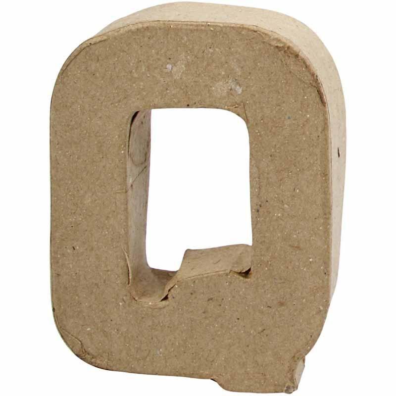 Creativ Company Lettre, Q, H: 10 cm, L: 7,8 cm, 1,7 cm, 1 Pièce