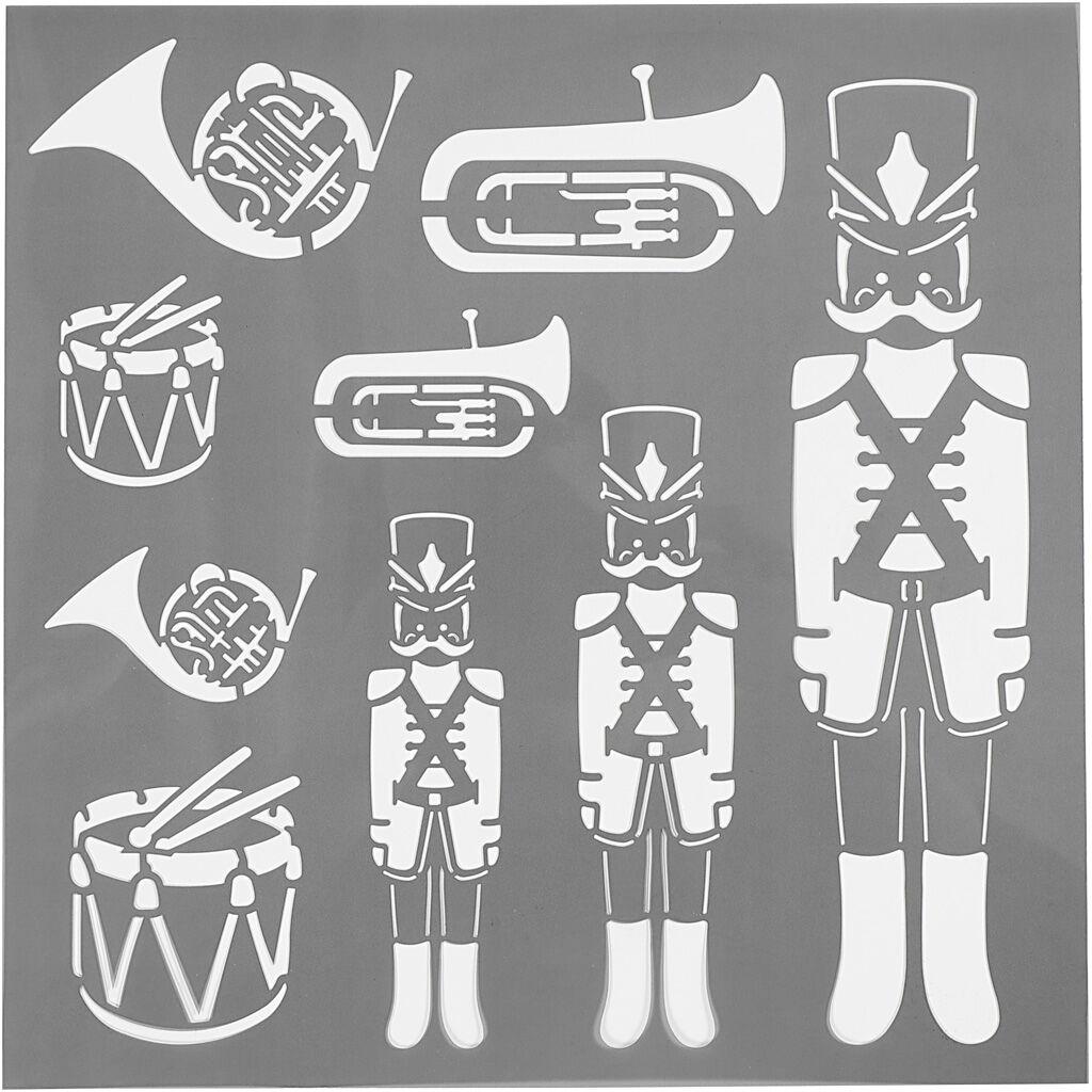 Creativ Company Pochoir, casse-noisettes, dim. 30,5x30,5 cm, ép. 0,31 mm, 1 flles