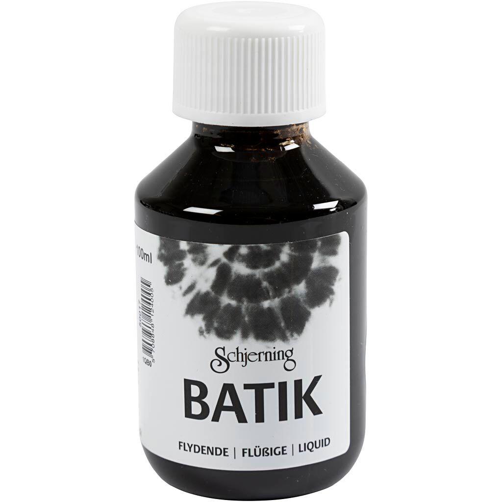 Creativ Company Peinture Batik pour textile, noir, 100 ml/ 1 flacon