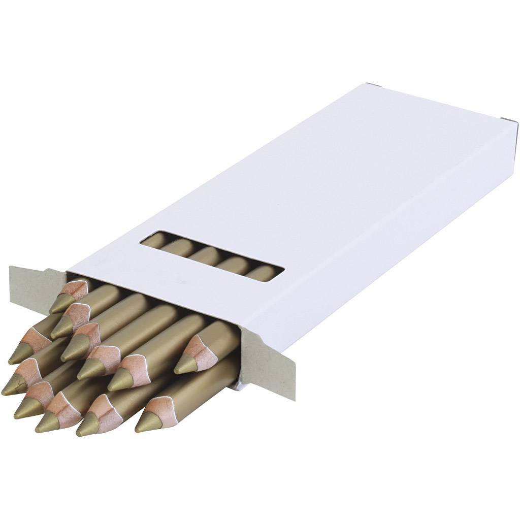 90151726 crayons de couleur jumbo edu, ép. 10 mm, mine 6,25 mm, or, 12 pièce/ 1 Pq.