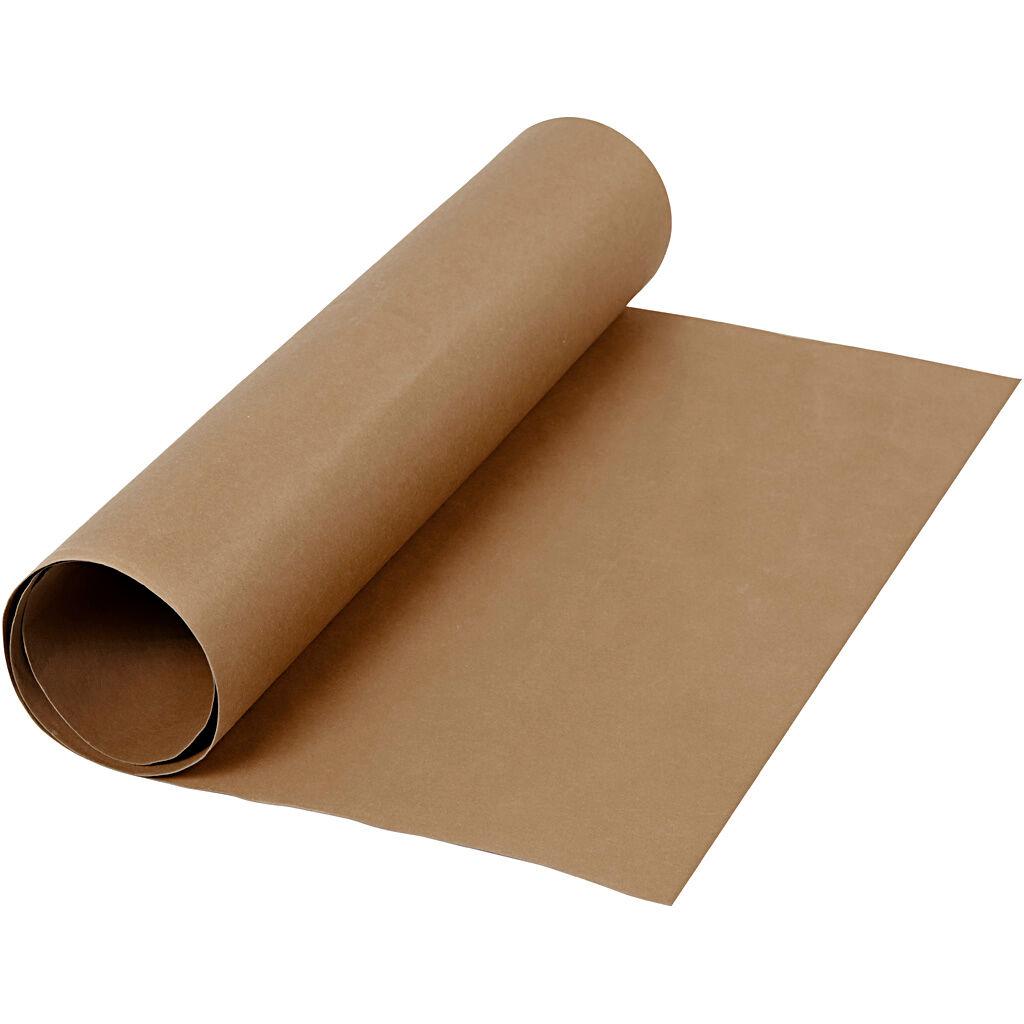 Creativ Company Papier imitation cuir, L: 50 cm, unicolor, 350 gr, brun foncé, 1 m/ 1 rouleau