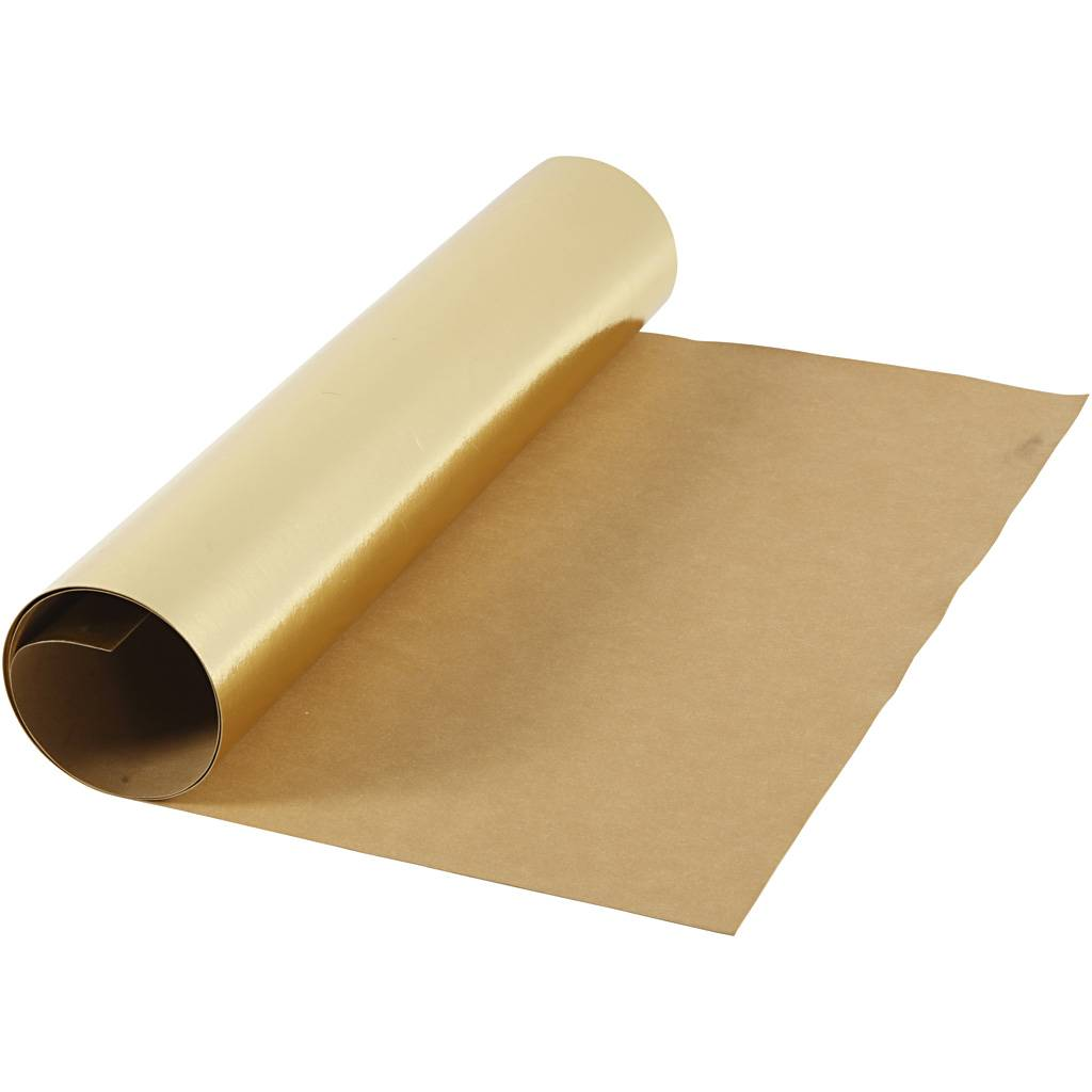 Creativ Company Papier imitation cuir, L: 49 cm, film, 350 gr, or, 1 m/ 1 rouleau