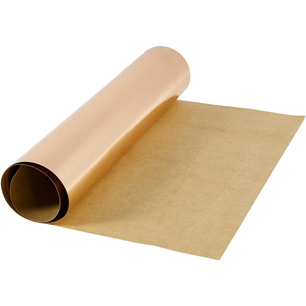 Creativ Company Papier imitation cuir, L: 49 cm, unicolor,film, 350 gr, rose or, 1 m/ 1 rouleau