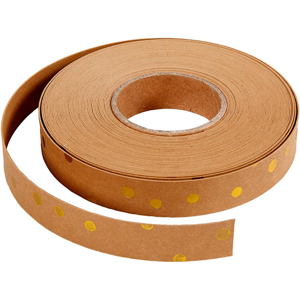 Creativ Company Bandes de tressage, L: 15 mm, ép. 0,55 mm, brun clair, 9,5 m/ 1 rouleau