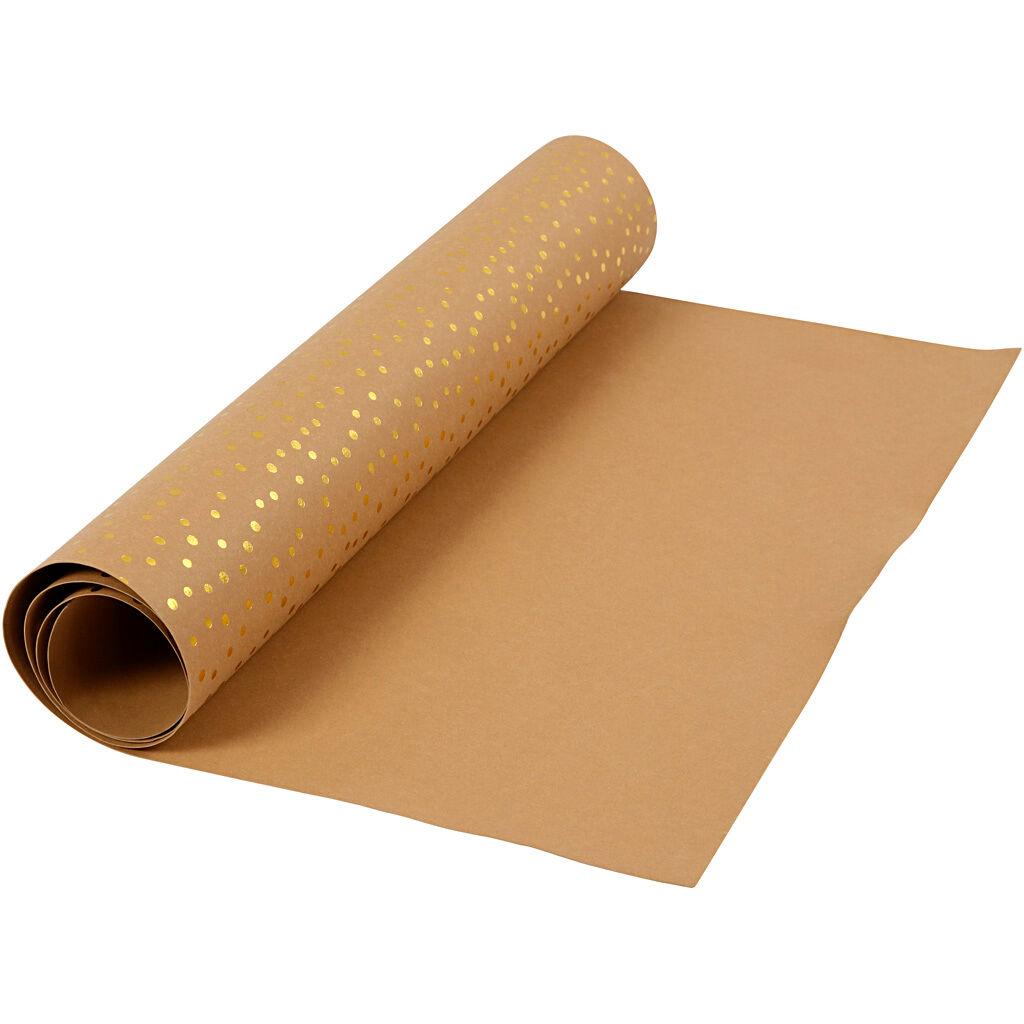 Creativ Company Papier imitation cuir, L: 50 cm, unicolor,film, 350 gr, brun clair, or, 1 m/ 1 rouleau