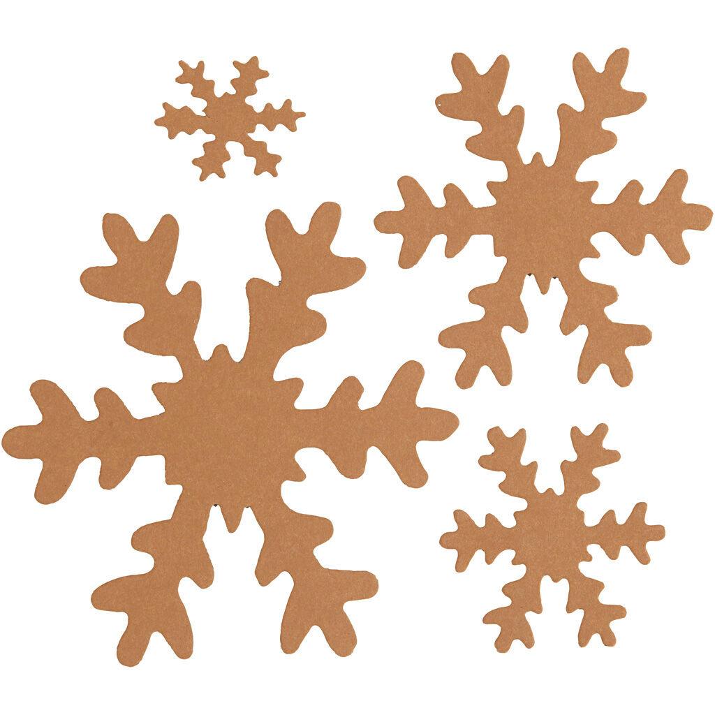 Creativ Company Flocon de neige, d: 3+5+8+10 cm, 350 gr, naturel, 16 pièce/ 1 Pq.