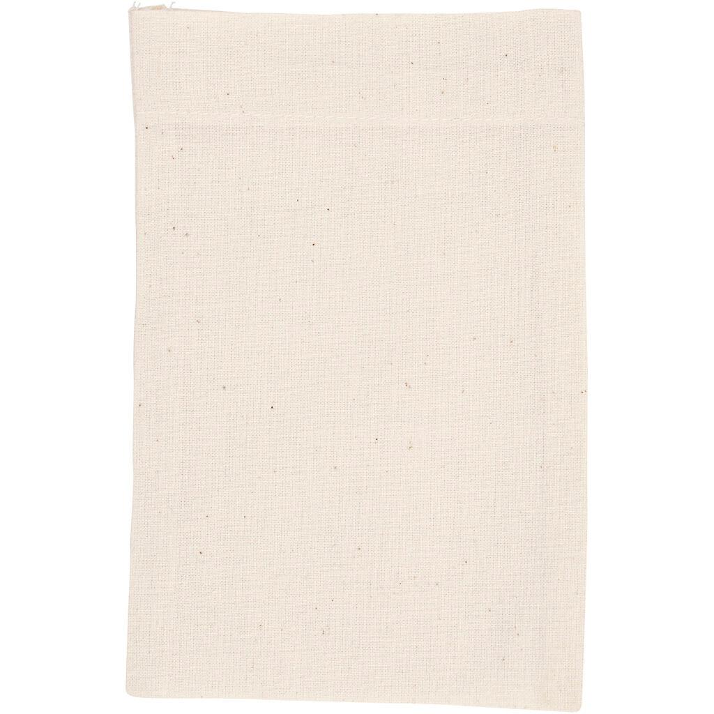 Creativ Company Sac En Coton, 15x20 cm, 115 gr, Naturel Clair, 4 Pièce