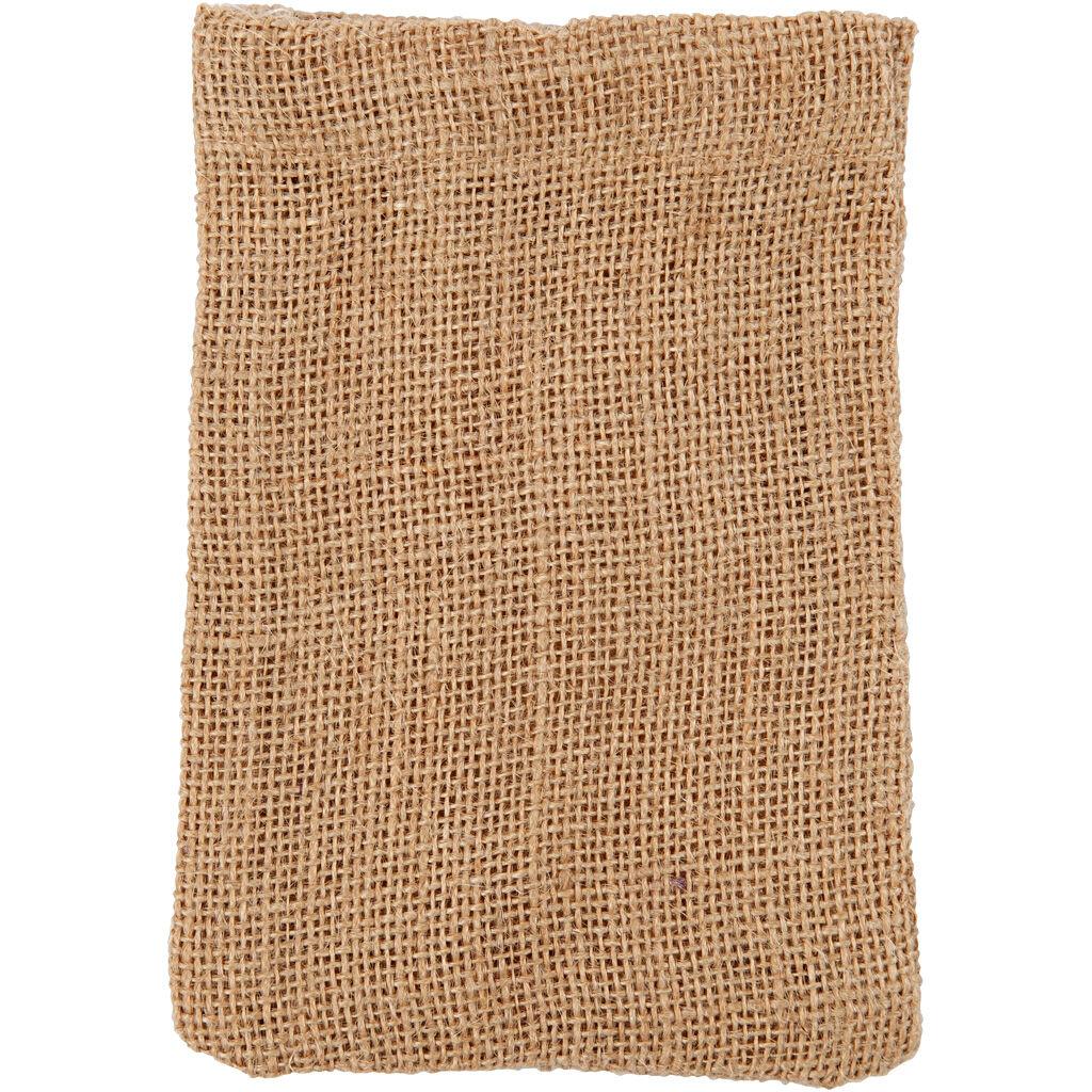 Creativ Company Sac En Coton, 10x15 cm, 275 , Brun, 4 Pièce