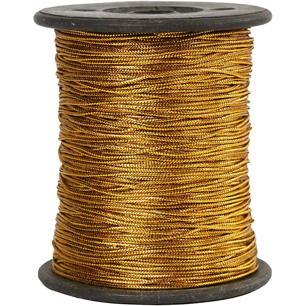 Creativ Company Fil, ép. 0,5 mm, or, 100 m/ 1 rouleau