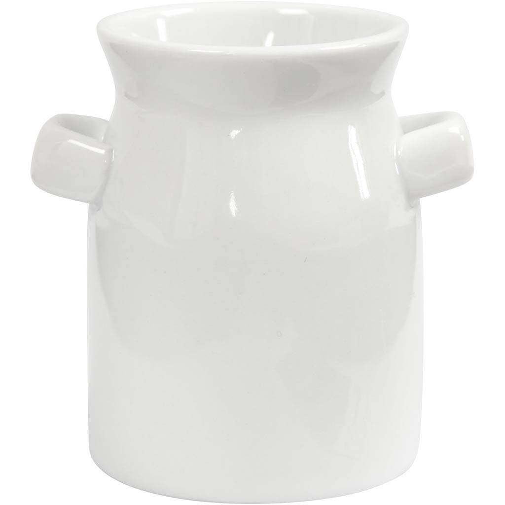 Creativ Company Bidon de lait, H: 7,5 cm, blanc, 12 pièce/ 1 boîte