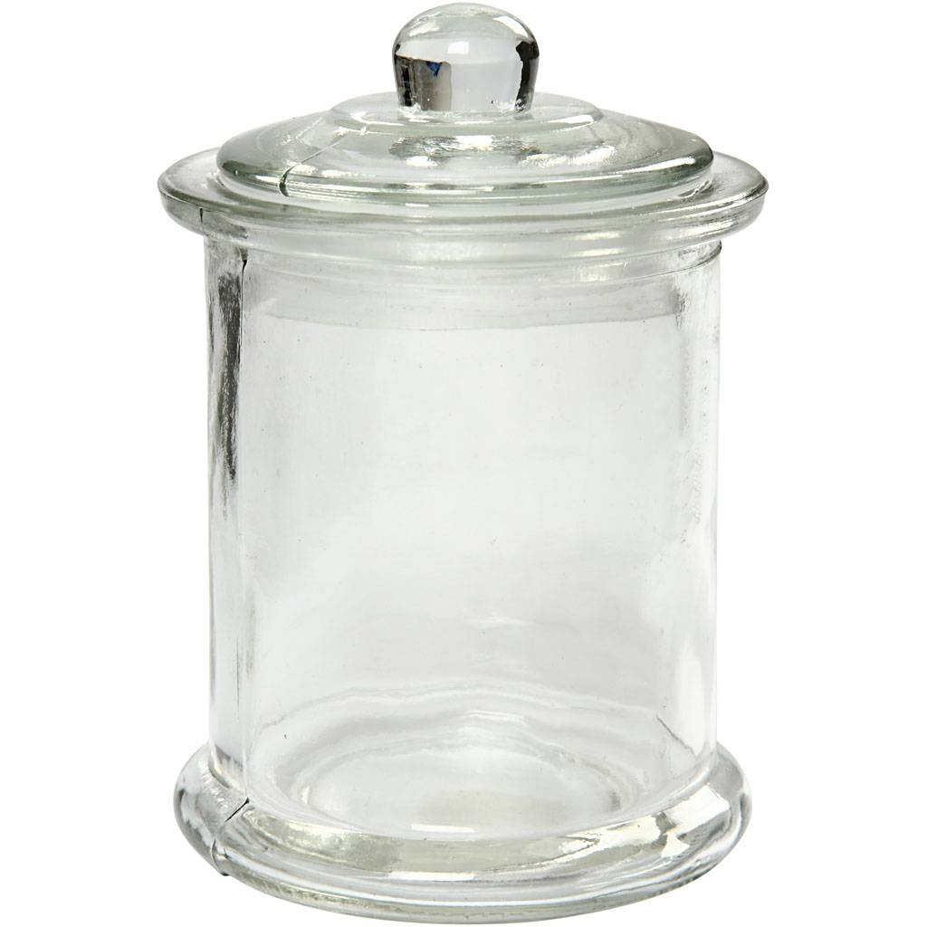 Creativ Company Bocal avec couvercle, H: 14,5 cm, d: 8 cm, 10 pièce/ 1 boîte