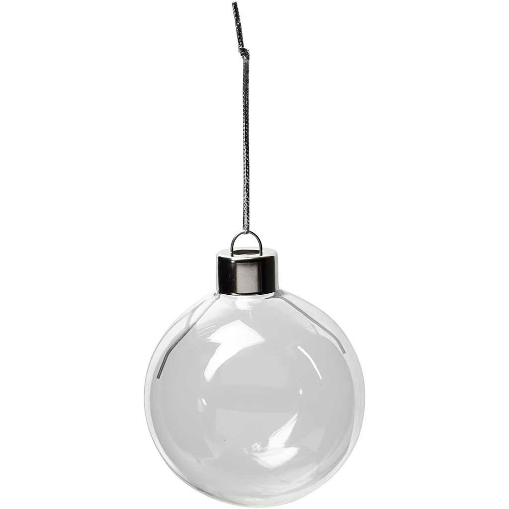 Creativ Company Objet décoratif en verre, H: 6,9 cm, d: 5,9 cm, transparent, 8 pièce/ 1 Pq.