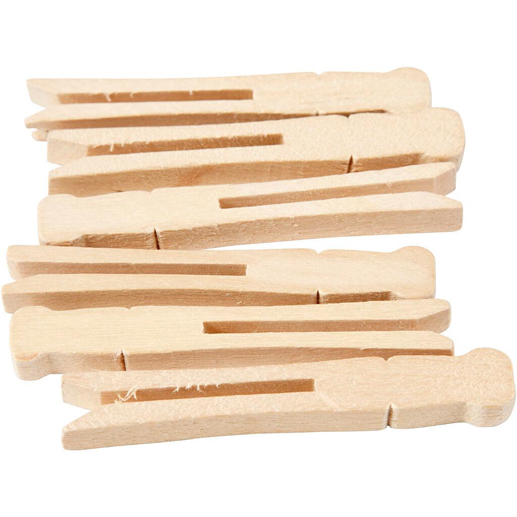 Creativ Company Pinces à linge, L: 9,5 cm, L: 1,4 cm, 100 pièce/ 1 Pq.