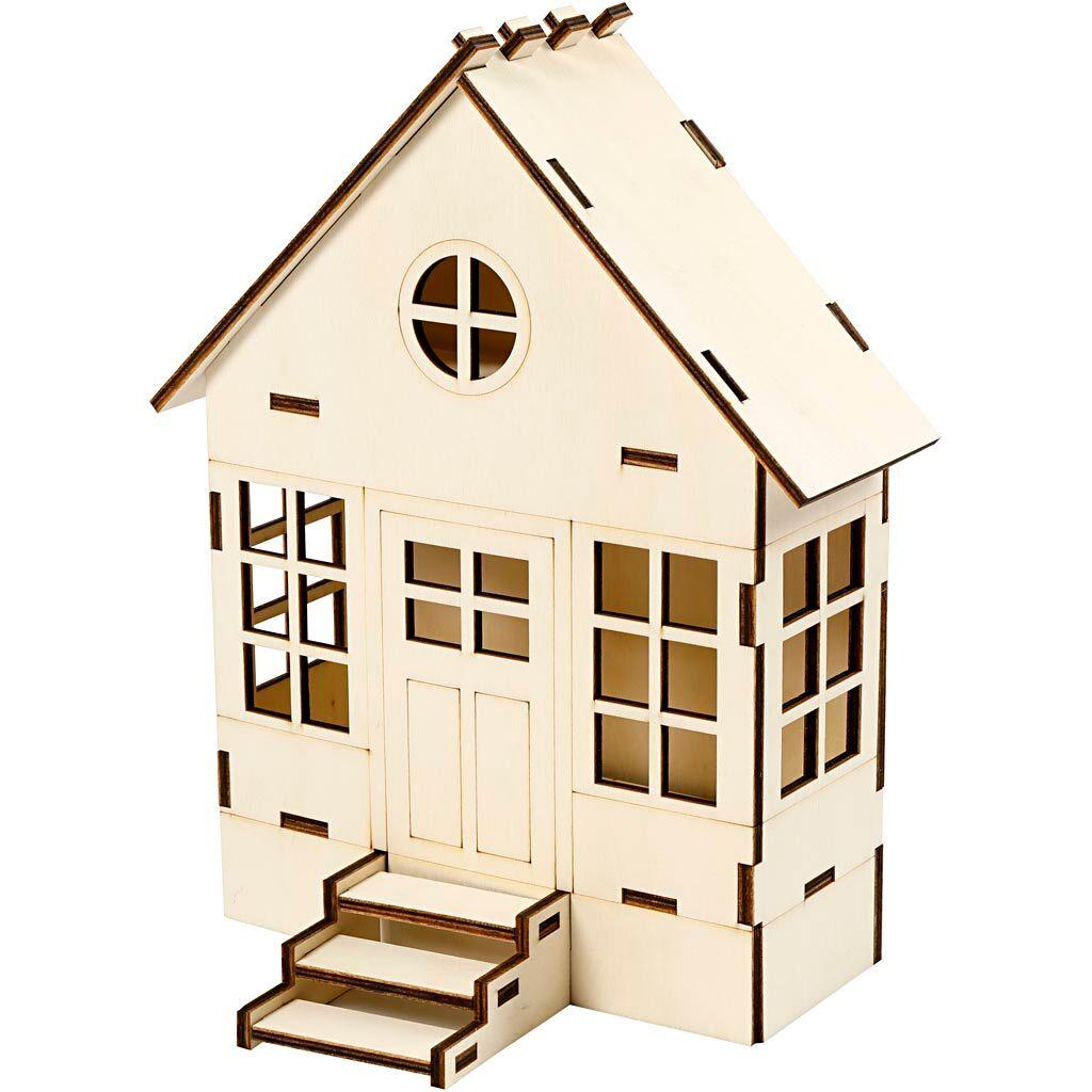 Creativ Company Maison à assembler, H: 24 cm, prof. 6(12,5) cm, L: 19 cm, 1 pièce