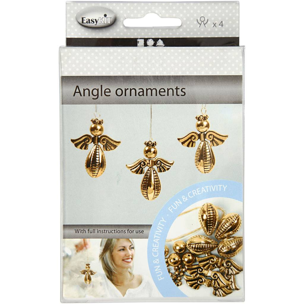 Creativ Company Ornements anges, H: 5,5 cm, L: 4,5 cm, or, 4 pièce/ 1 Pq.