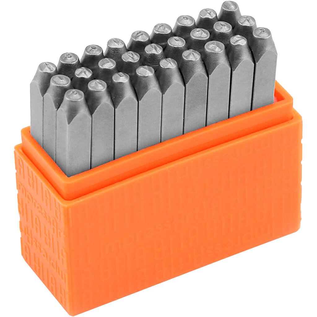 ImpressArt Set de tampons relief, Lettres capitales, dim. 3 mm, Police: marin , 27 pièce/ 1 set
