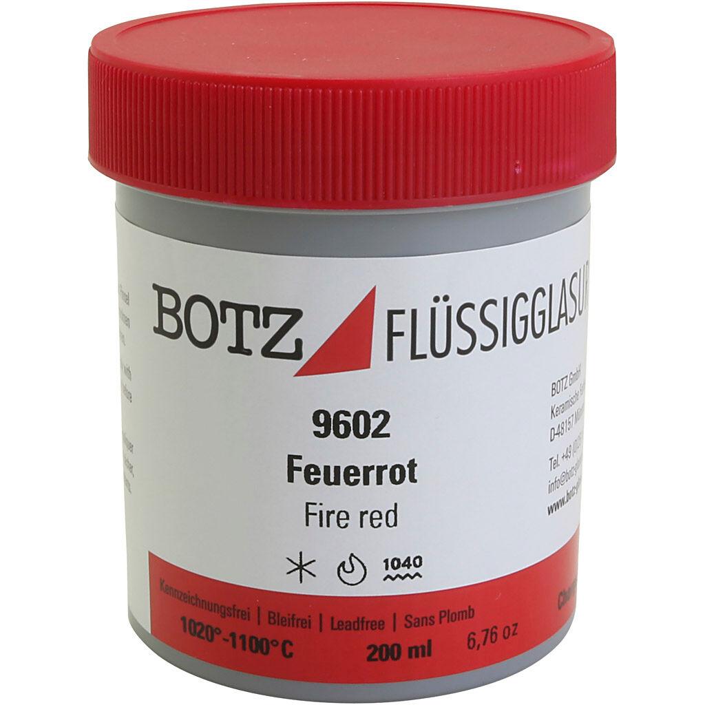 Creativ Company Glaçure pour argile, rouge, 200 ml/ 1 boîte